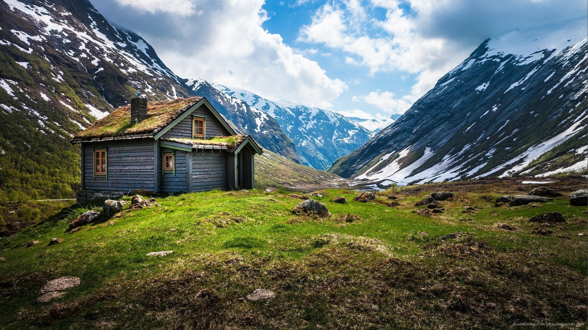 Norway wallpapers wallpapertag - House in the mountains ...