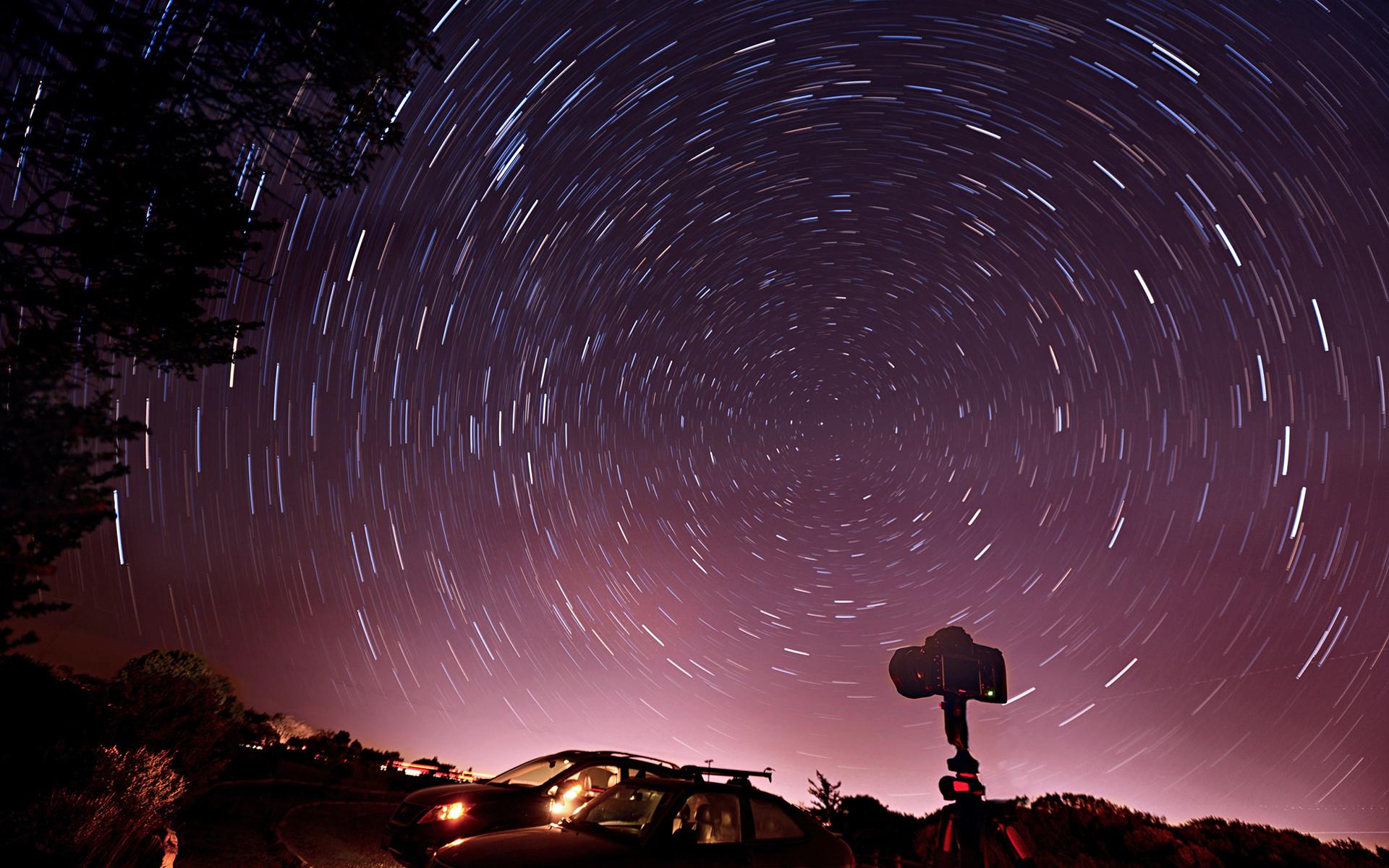 фотоаппарат для снимков ночного неба время как полумесяц