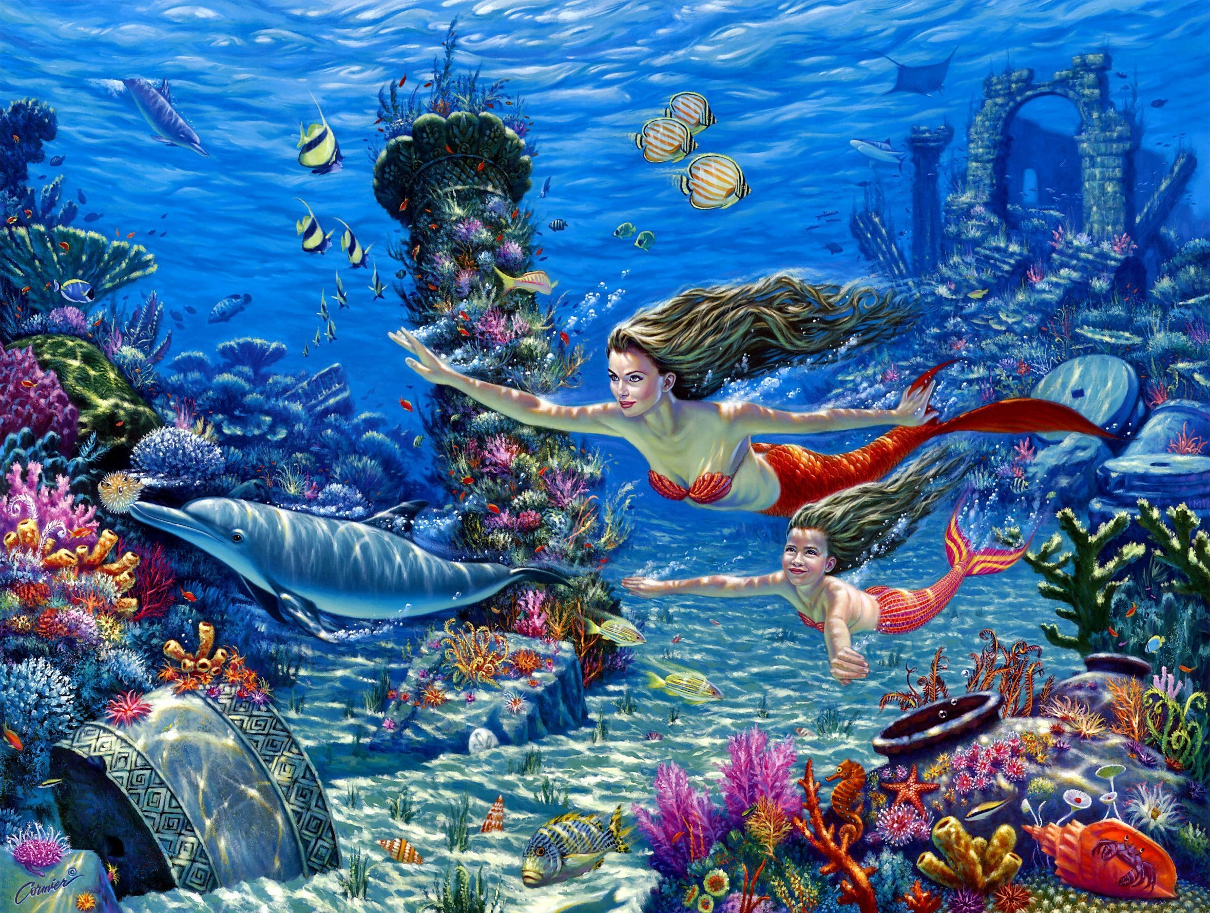 Little Mermaid Background 1 Download Free Stunning Full HD