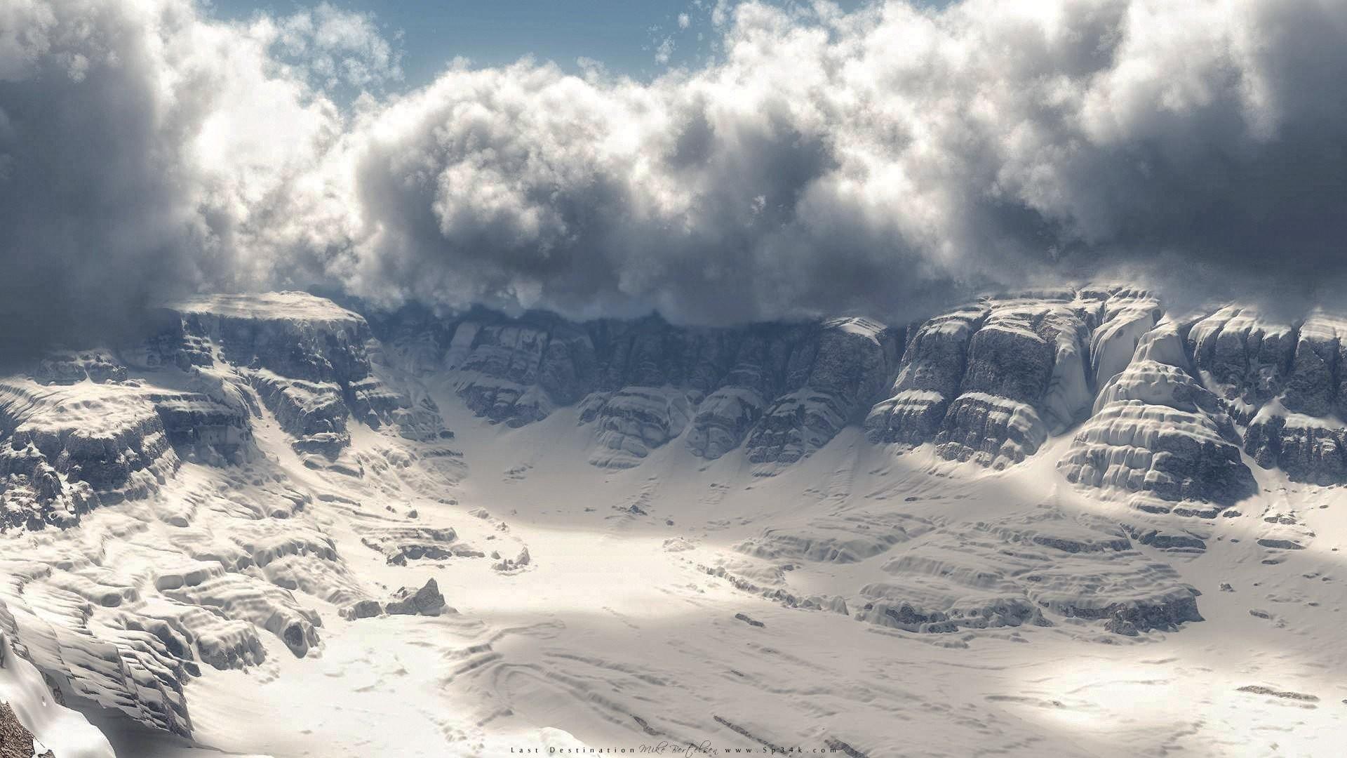 snow storm wallpaper