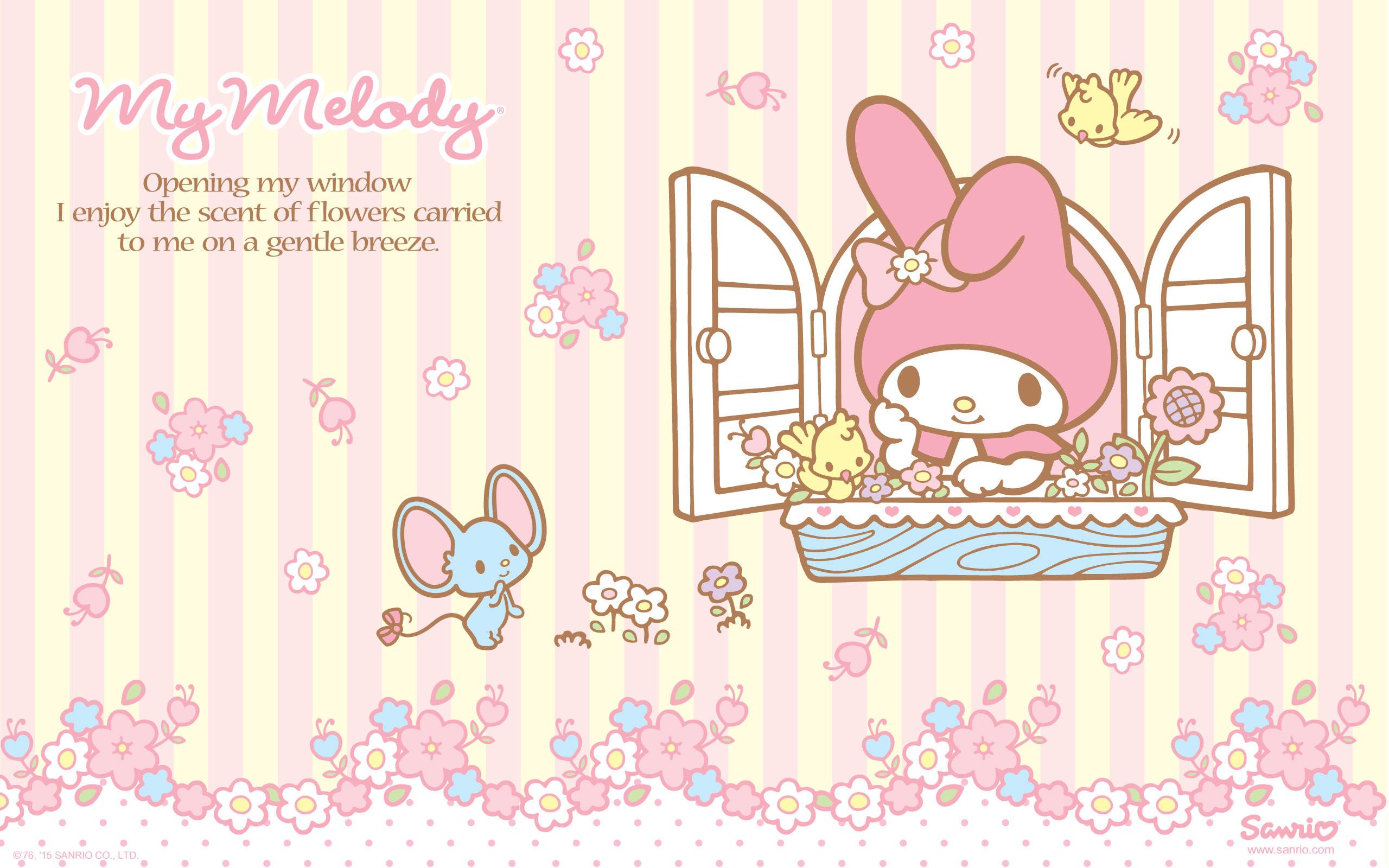 Wallpaper Hello Kitty Pink Cute