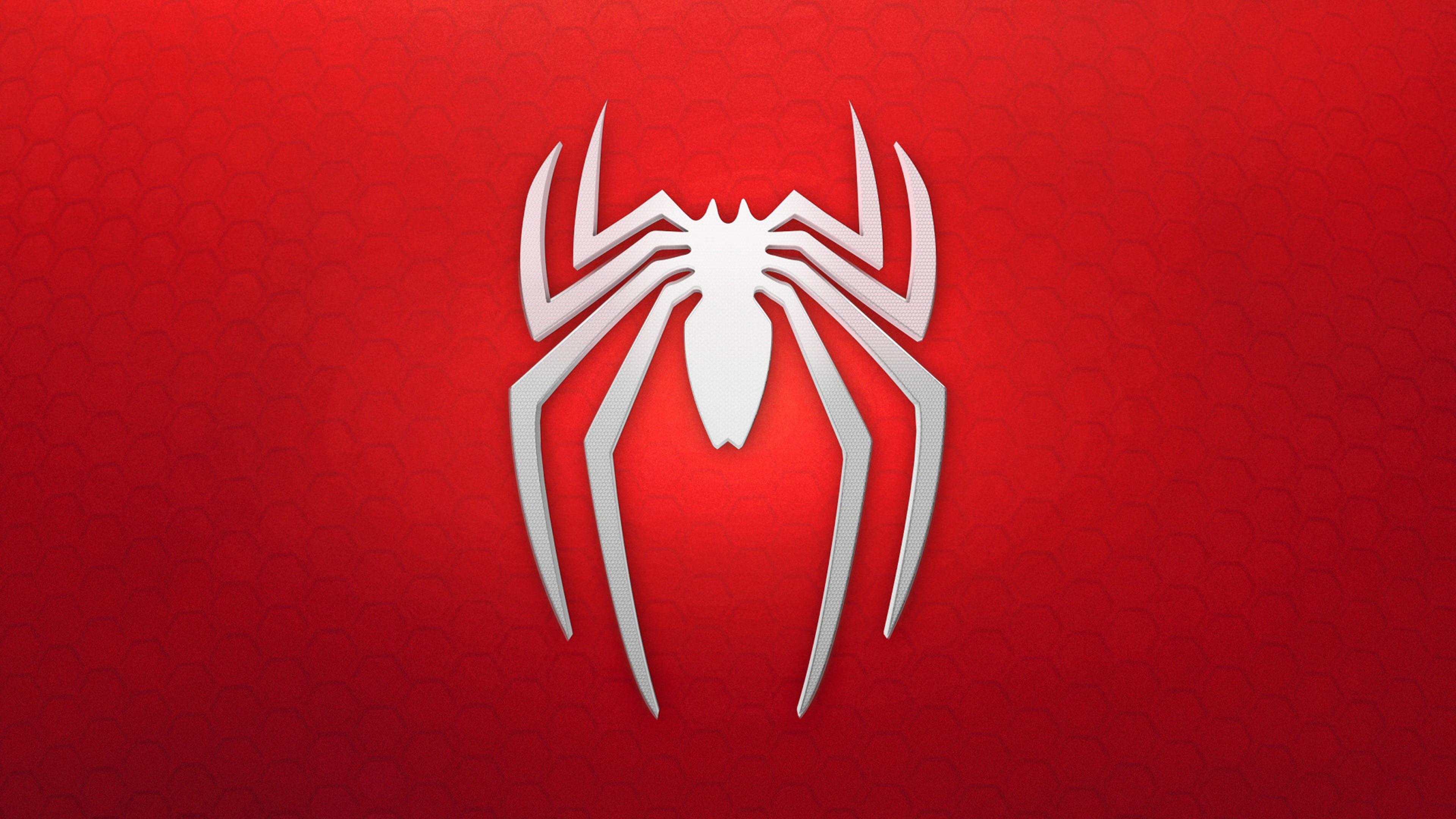 3840x2160 Spiderman 4k Logo Background Download Amazing