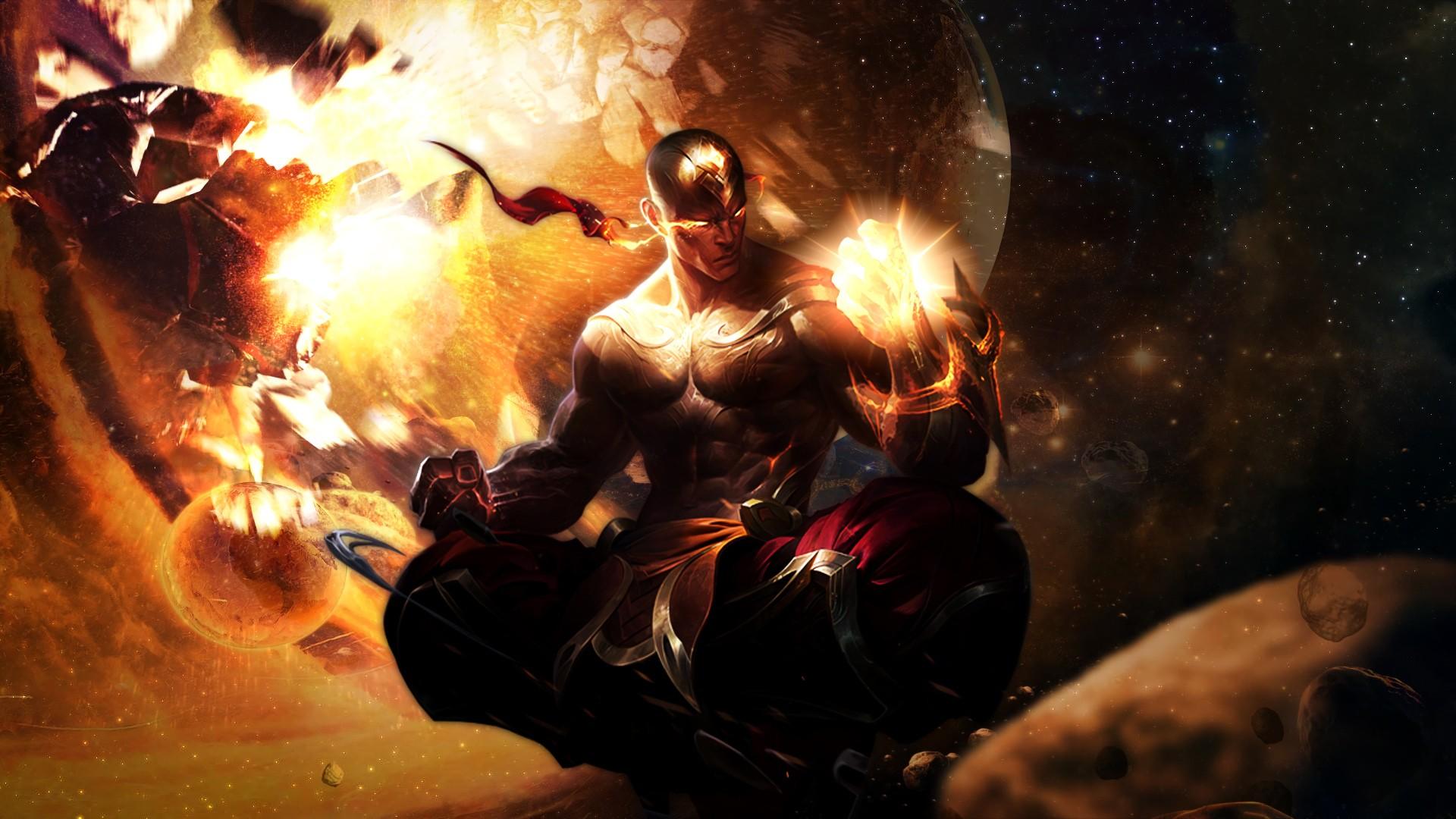 1920x1080 God Fist Lee Sin by nestroix HD Wallpaper Fan Art Artwork League of Legends lol