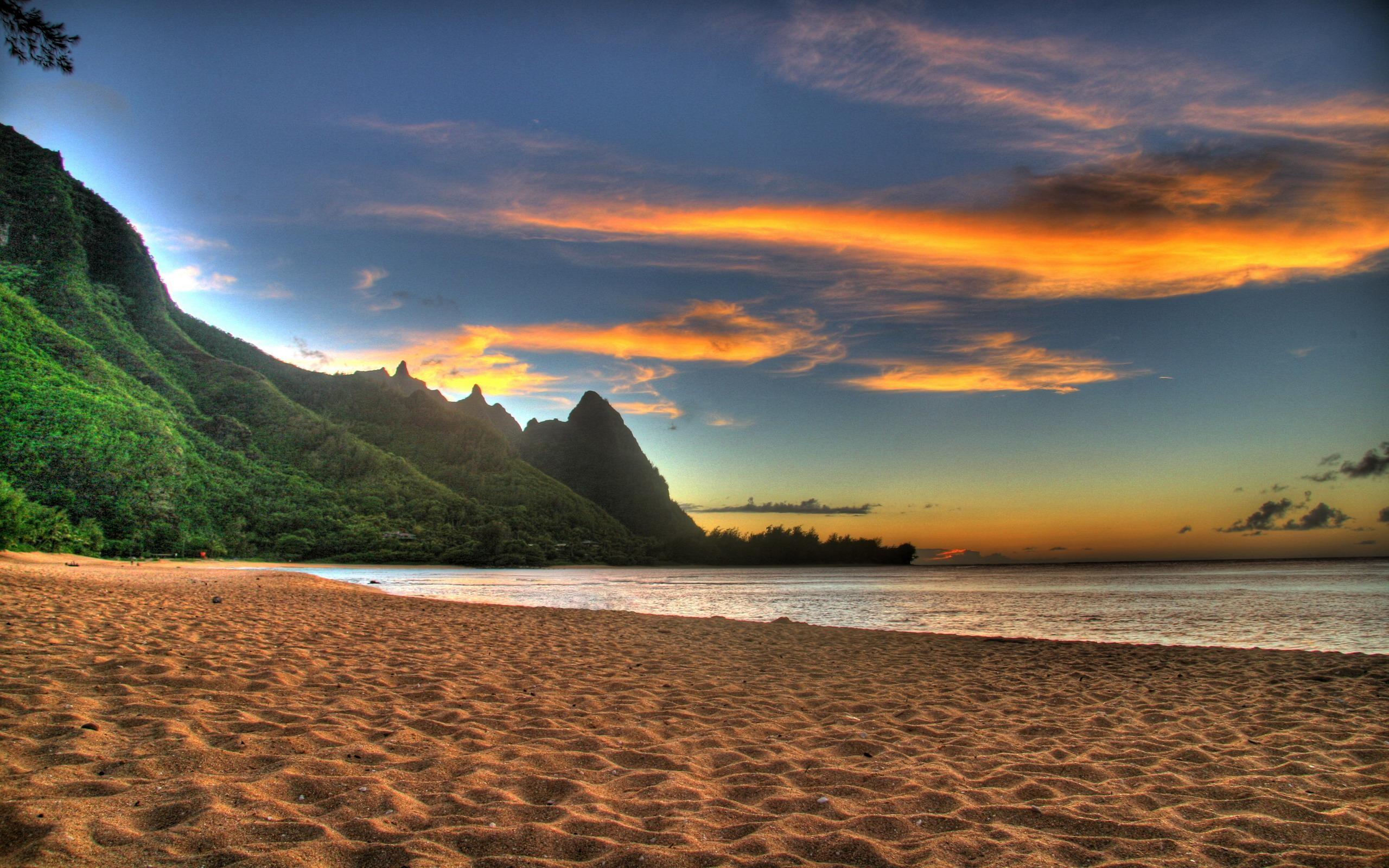 2560x1600 Beach Sunset Wallpaper Desktop Windows With