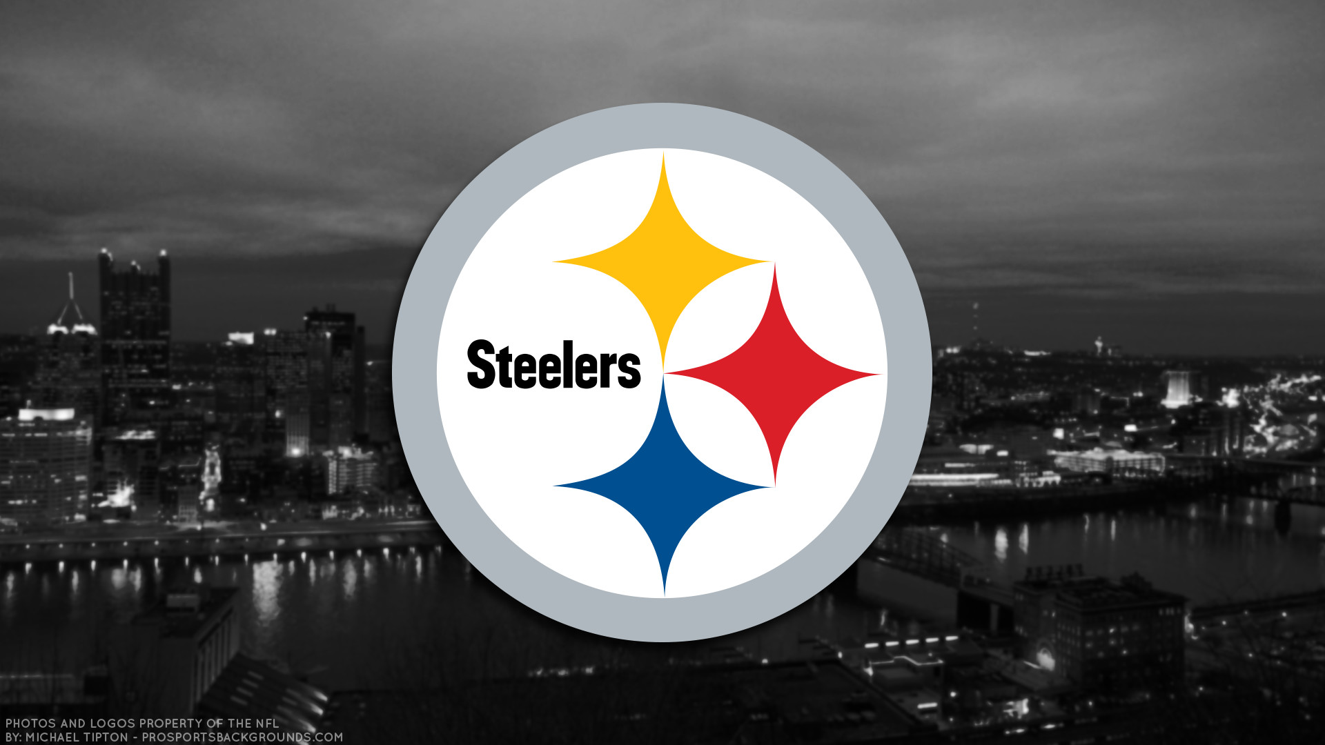 Pittsburgh Steelers 2017 football logo wallpaper pc desktop computer .