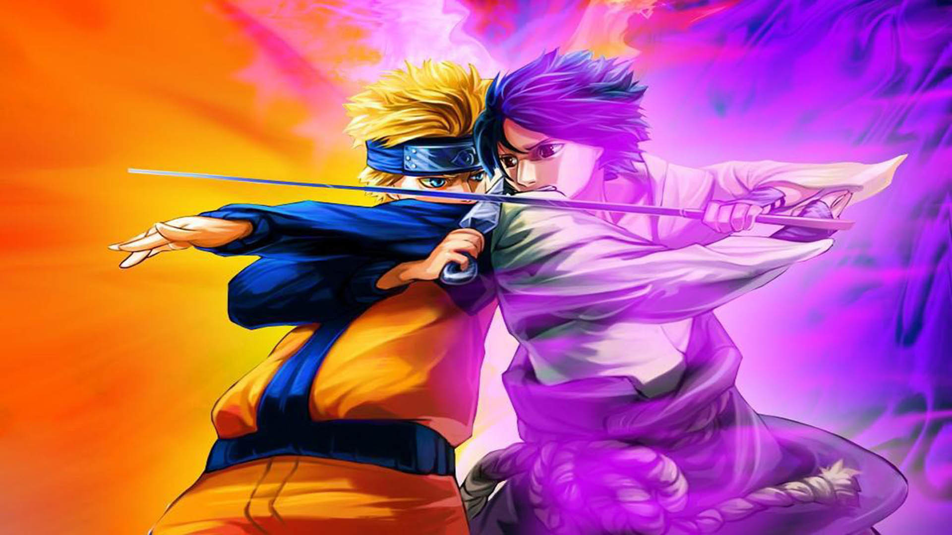 Naruto Vs Sasuke Wallpaper Wallpapertag