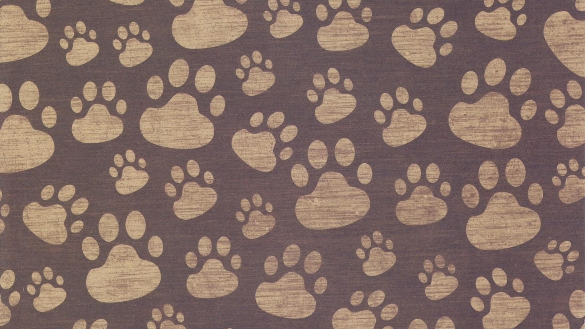 Paw prints wallpaper wallpapertag - Dog print wallpaper ...