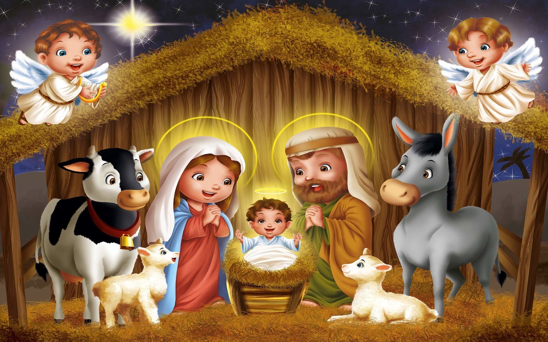 Christmas Nativity Wallpaper ·①