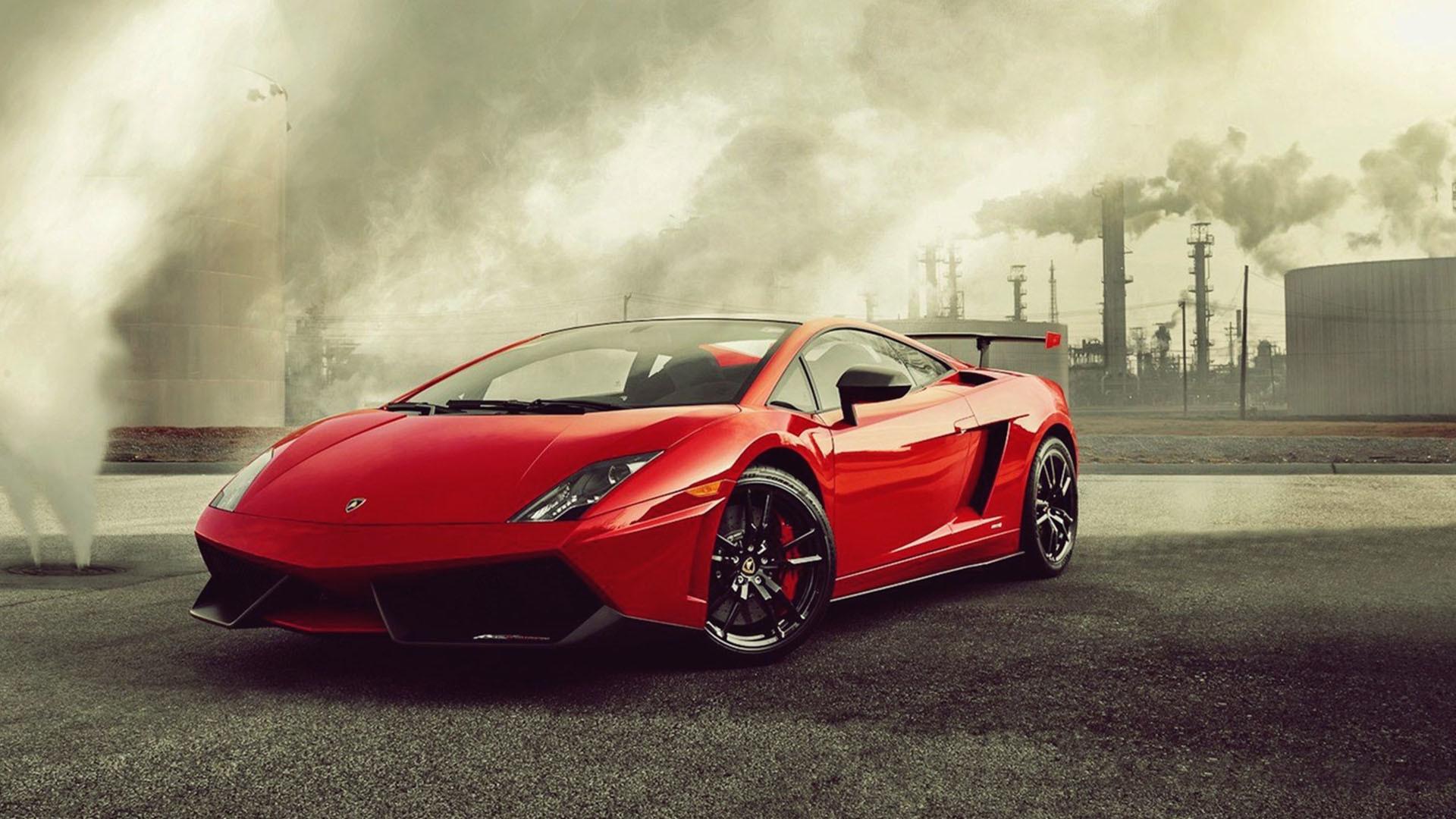 спортивный зеленый автомобиль Lamborghini  № 2996313 без смс