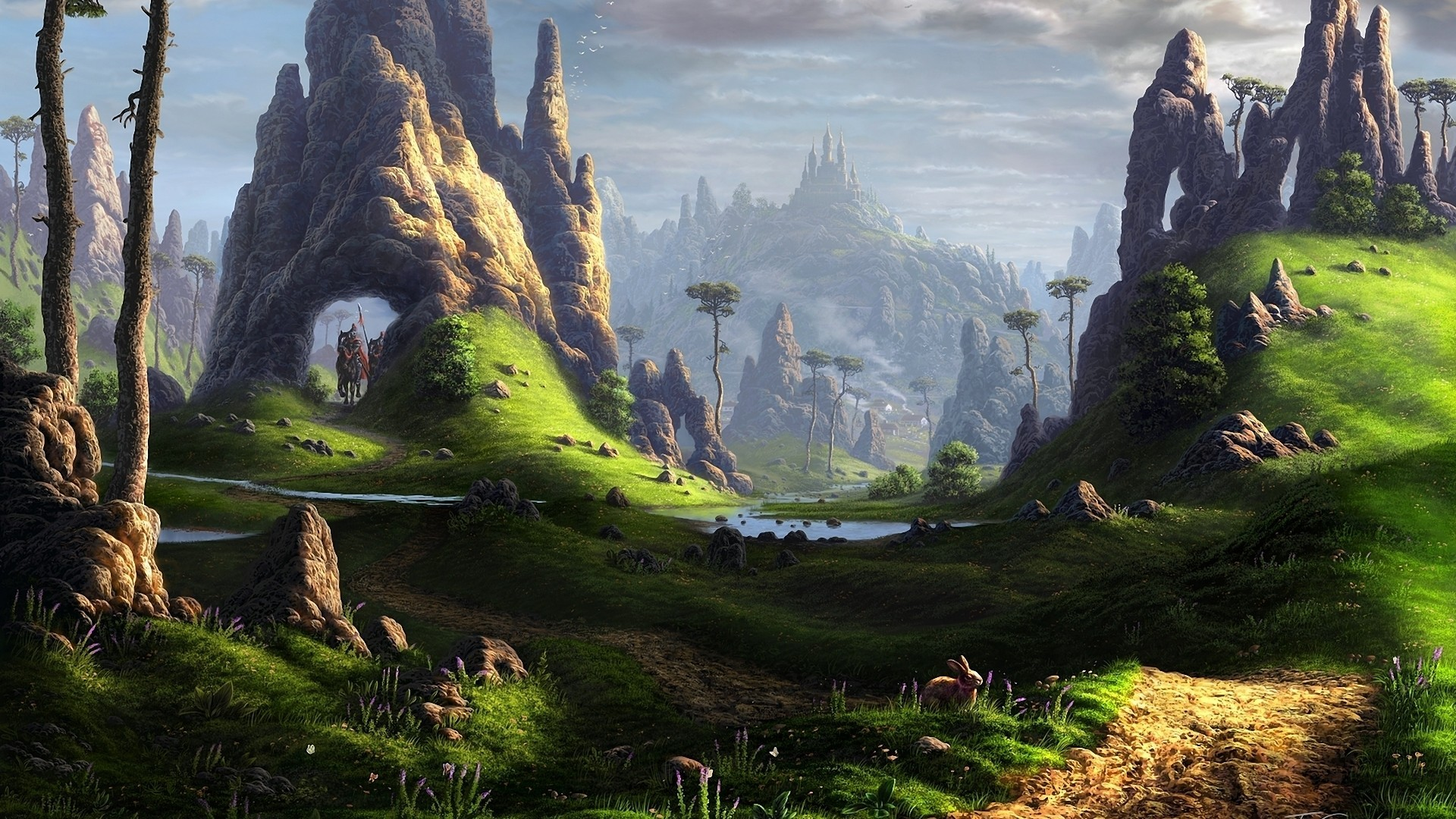 Stunning Hd Fantasy Wallpapers: Fantasy Landscape Wallpaper 1920x1080 ·① Download Free
