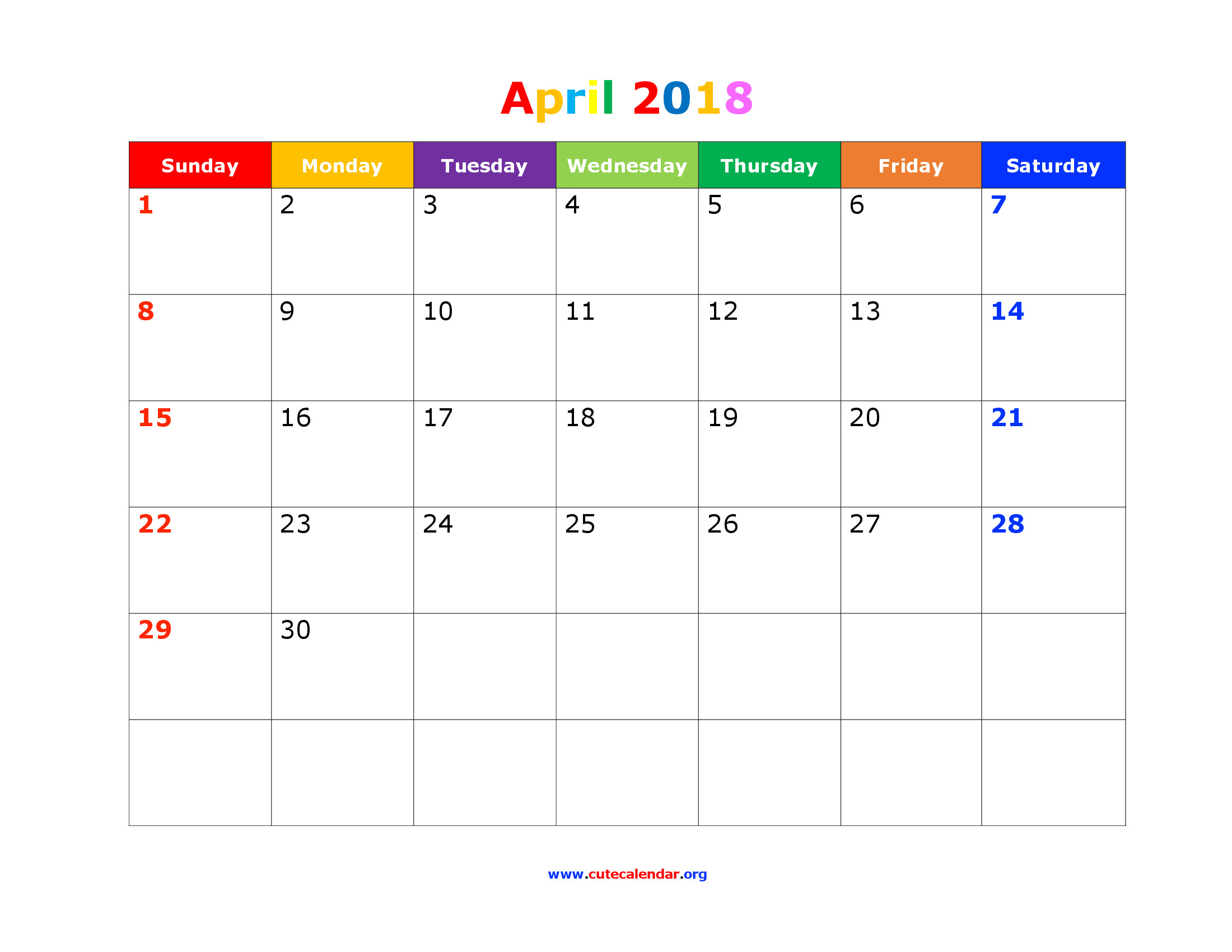 Desktop Calendar Wallpaper 2018 : Desktop wallpapers calendar april ·①