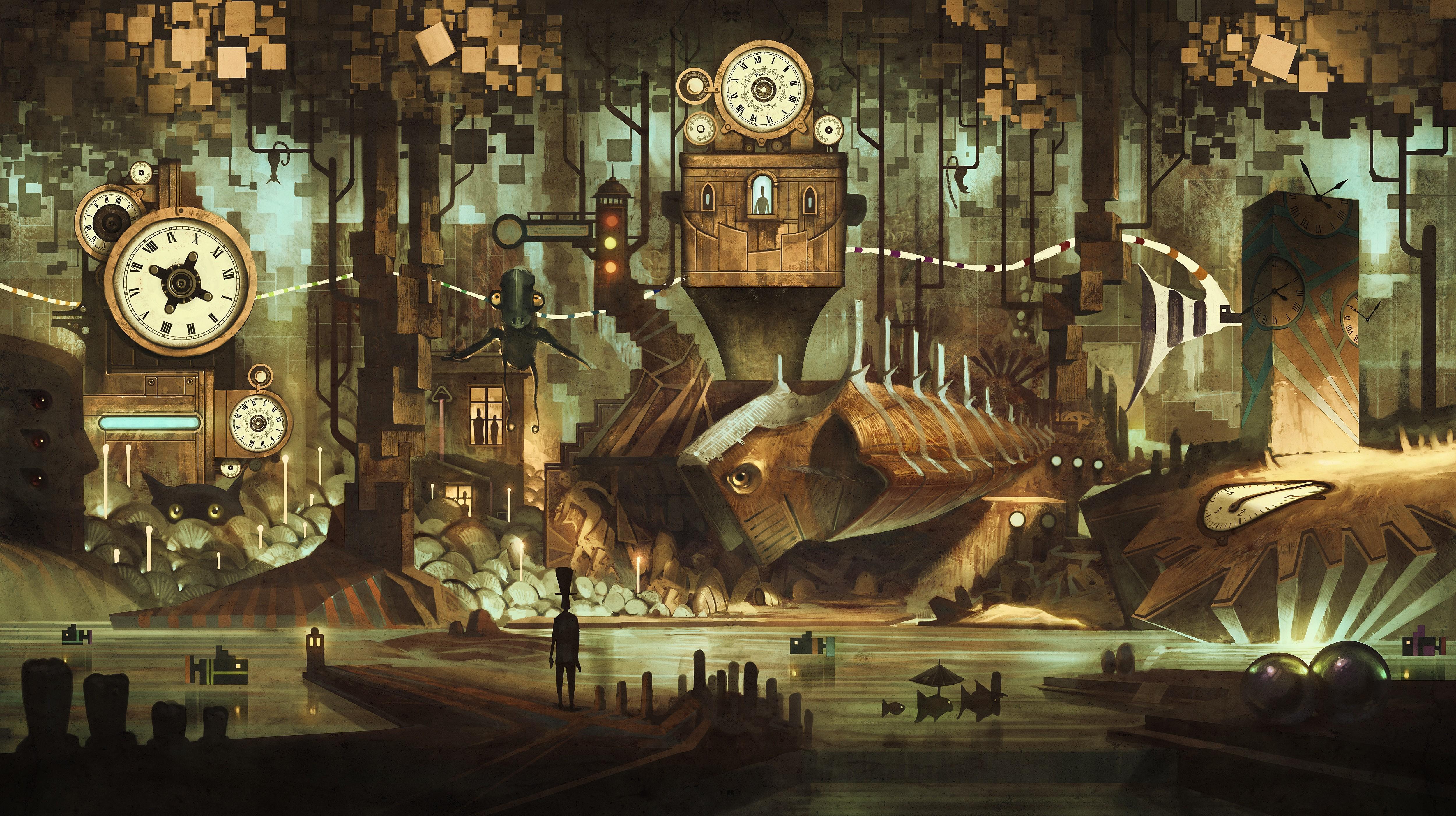 Download Wallpaper Music Steampunk - 49949-steampunk-background-5000x2801-mobile  HD_187870.jpg
