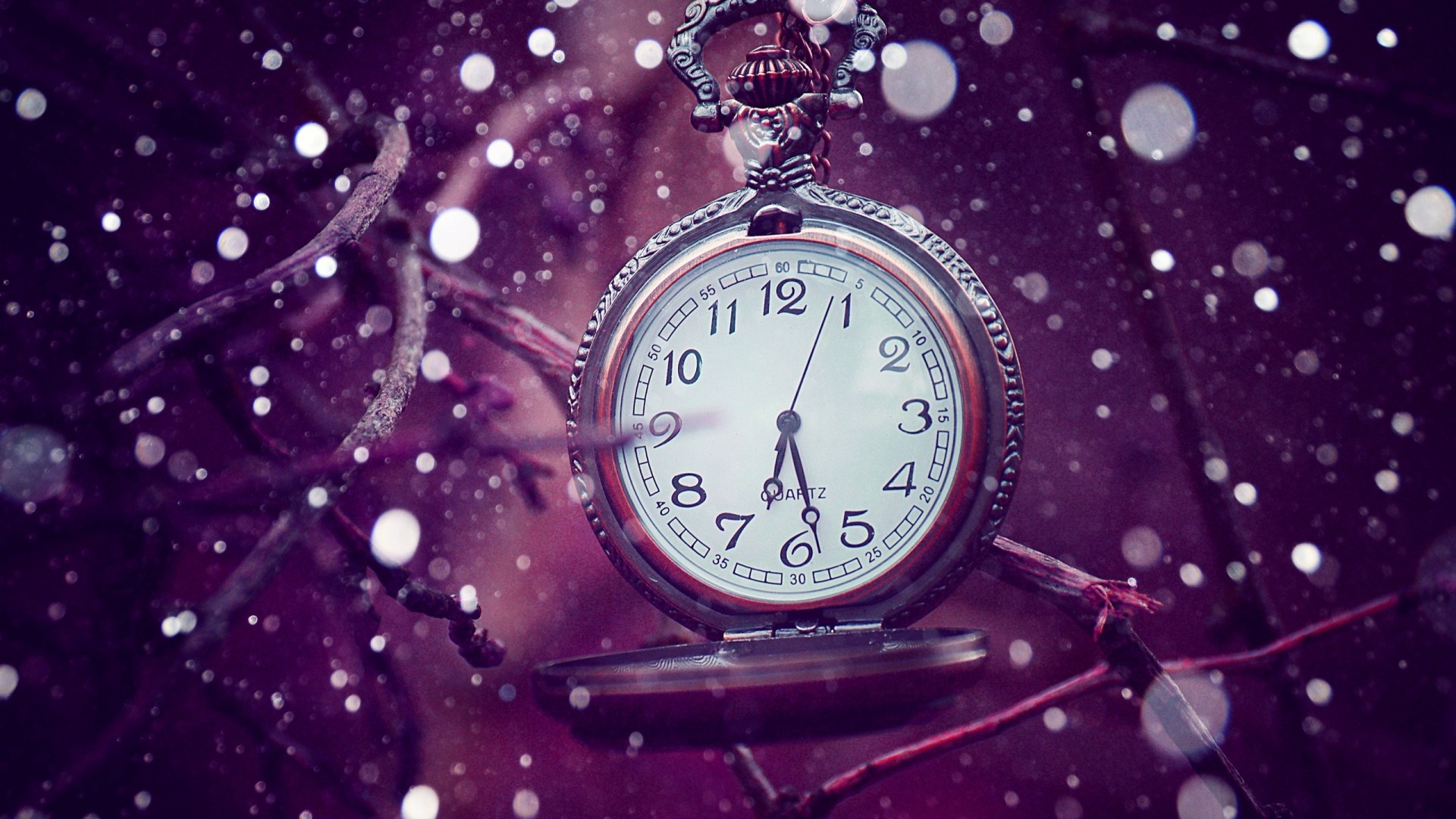1920x1080 Preview Wallpaper Clock Time Lilac