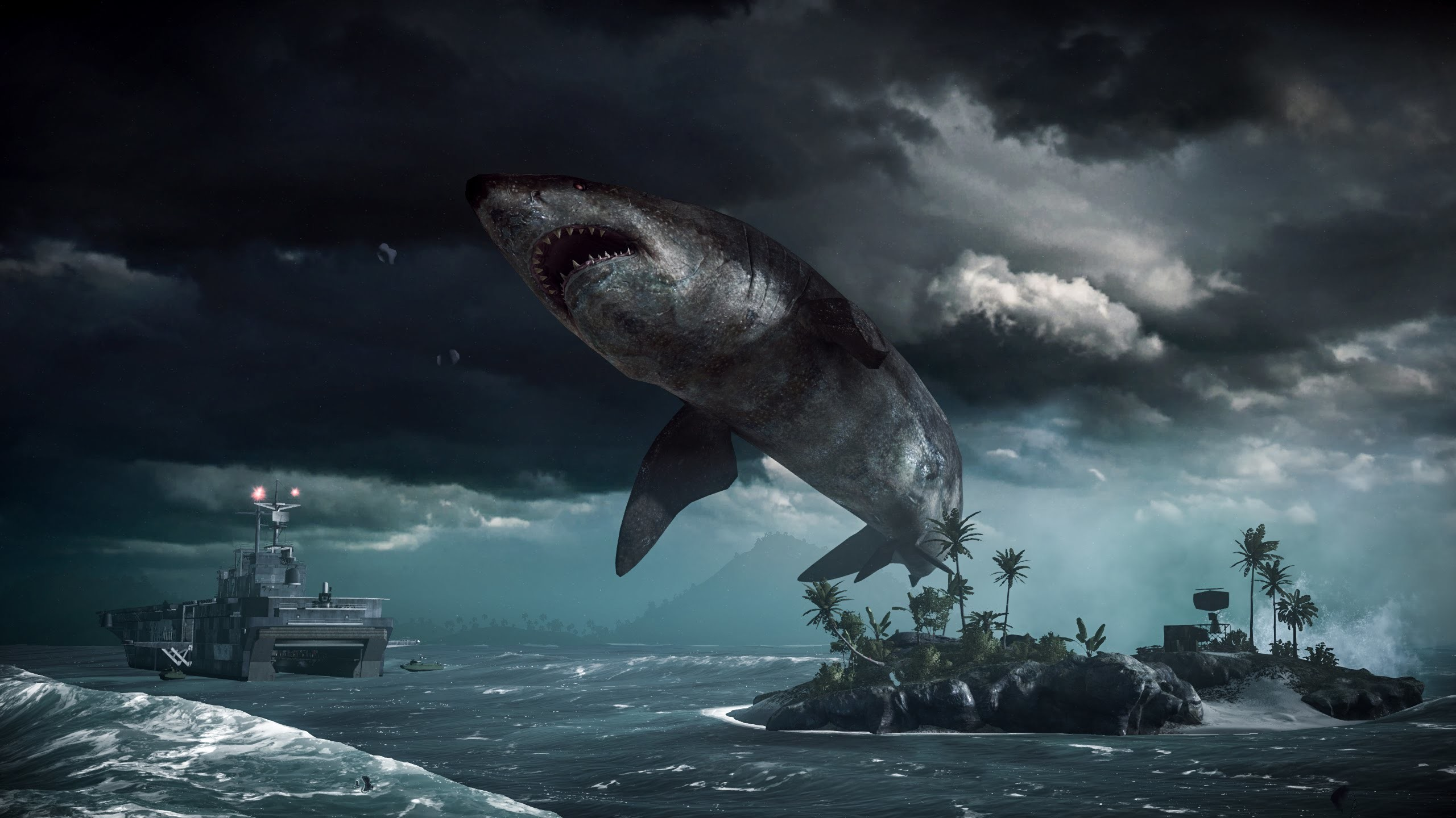 megalodon shark movie - HD 2560×1440