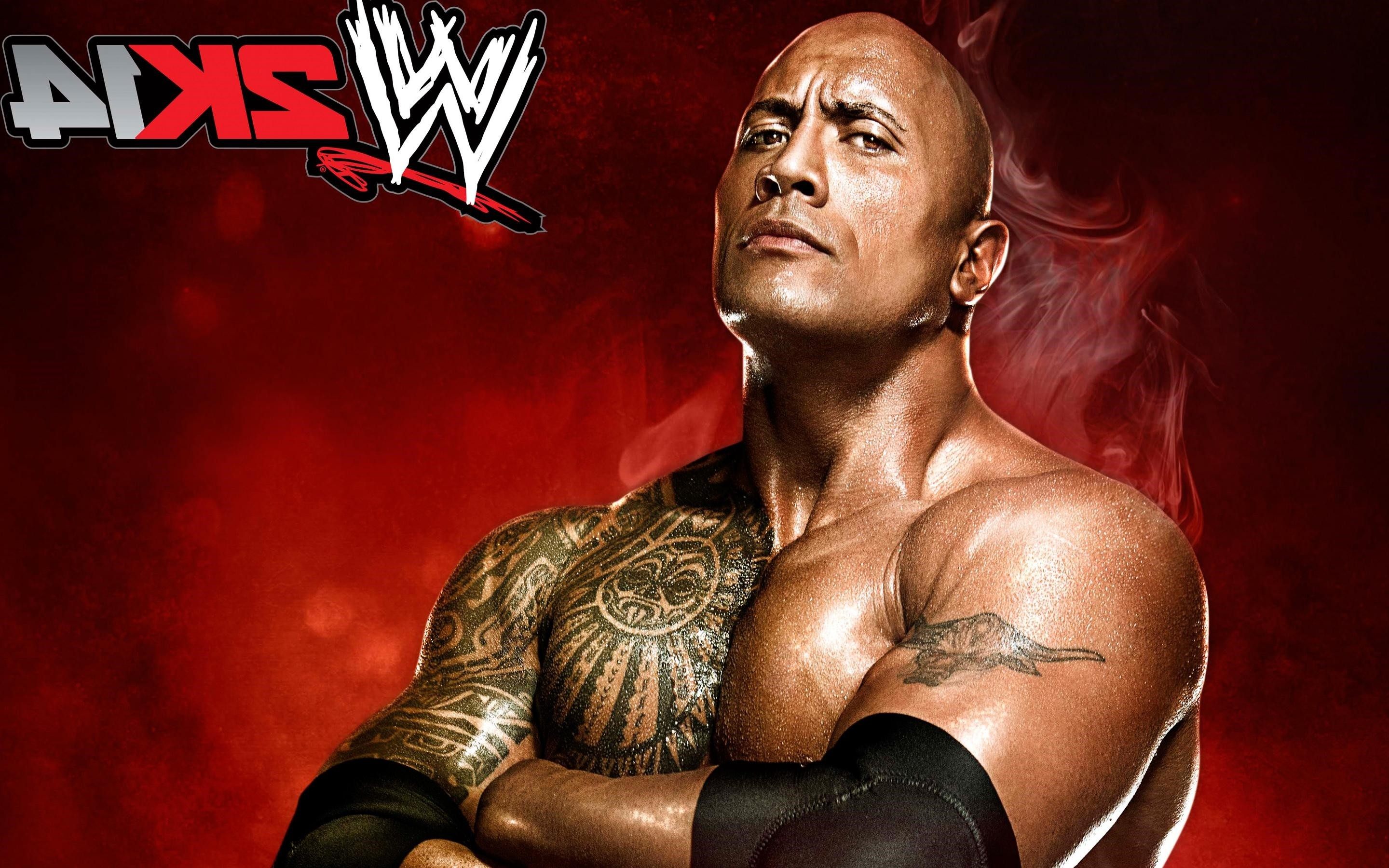 2880x1800 Wwe 2k14 2014 Video Games The Rock Hd Wallpaper