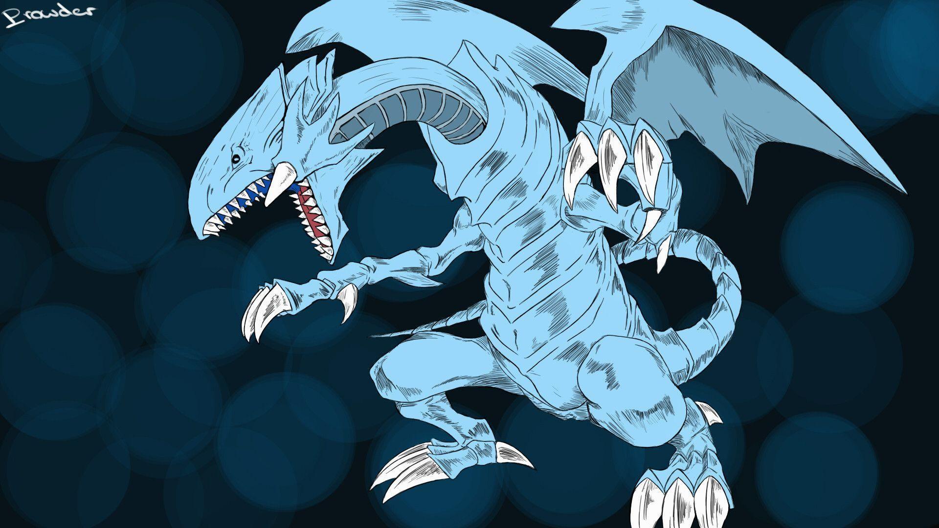 Blue Eyes White Dragon Wallpaper Wallpapertag