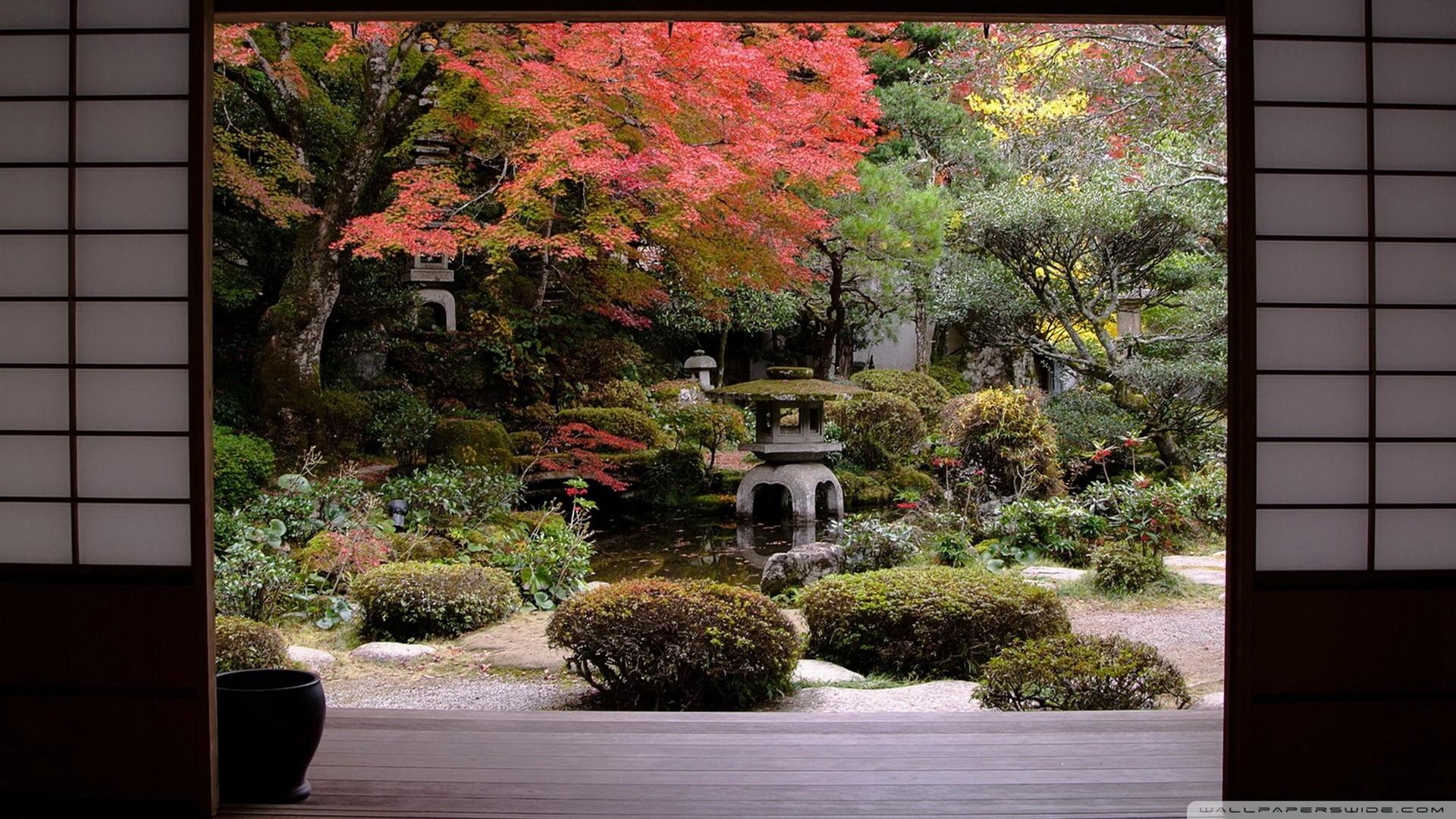 Japanese Garden Desktop Wallpaper ·①