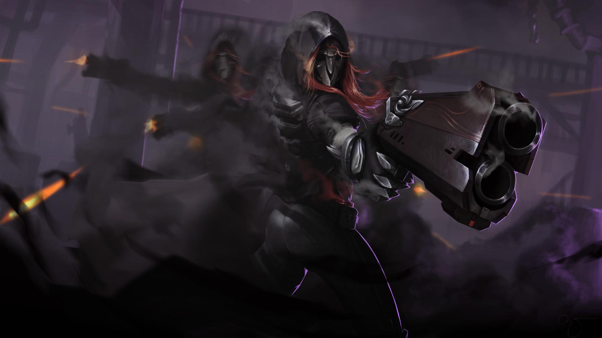 Reaper Overwatch Wallpaper Full Hd Wallpapersimagesorg