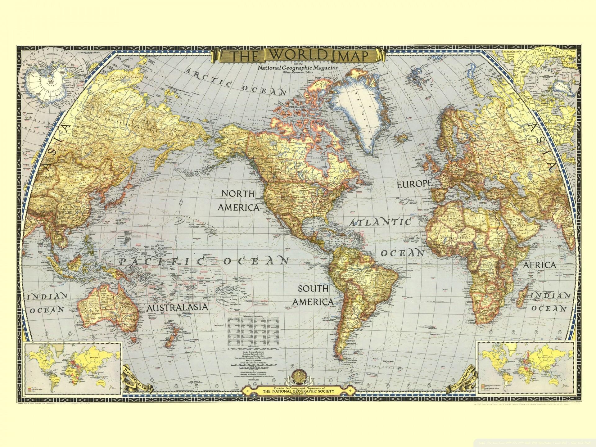World map desktop wallpaper 1920x1080 images for vintage world map background gumiabroncs Choice Image
