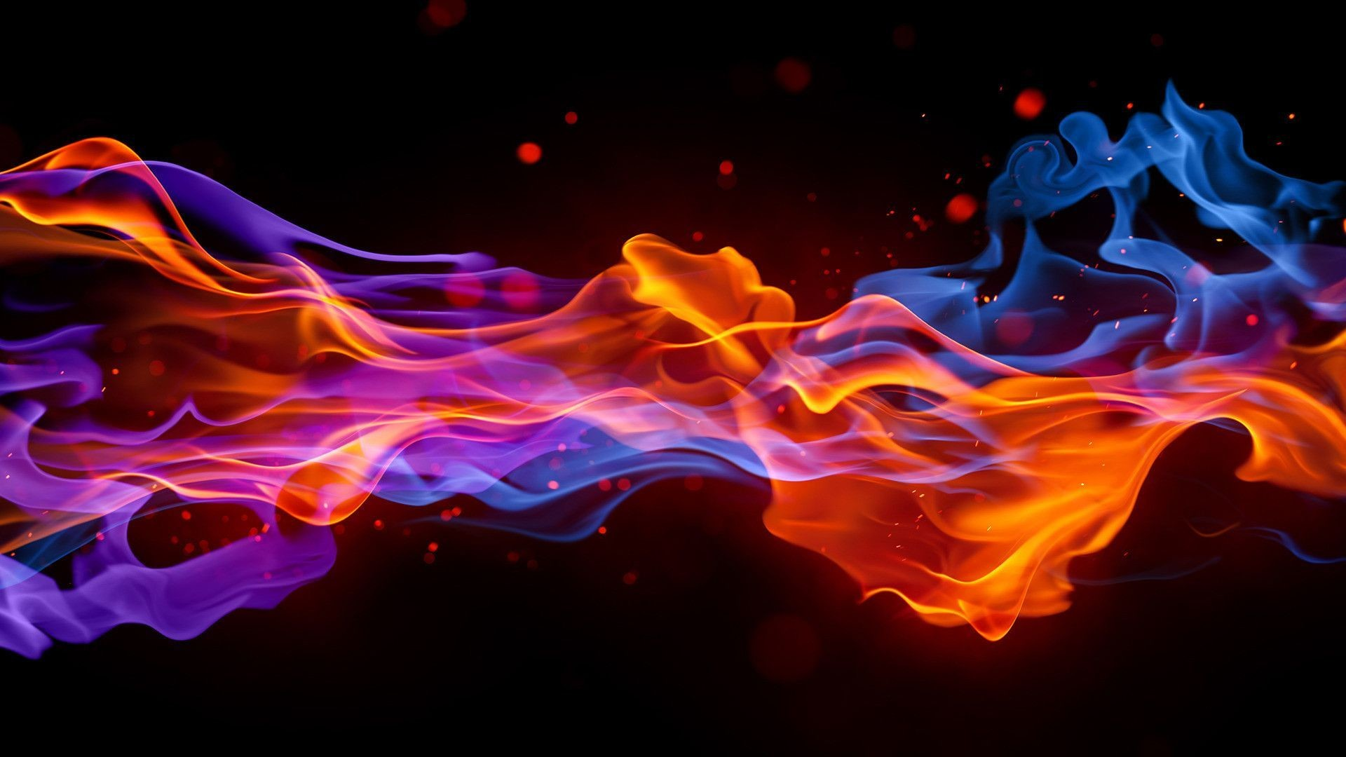 Cool Blue Fire Wallpapers ①