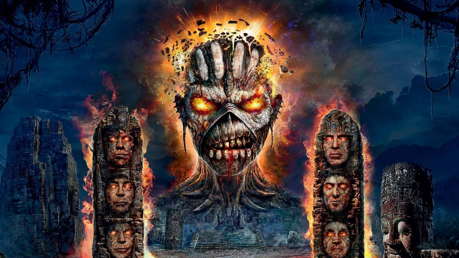 iron maiden eddie wallpaper. Black Bedroom Furniture Sets. Home Design Ideas