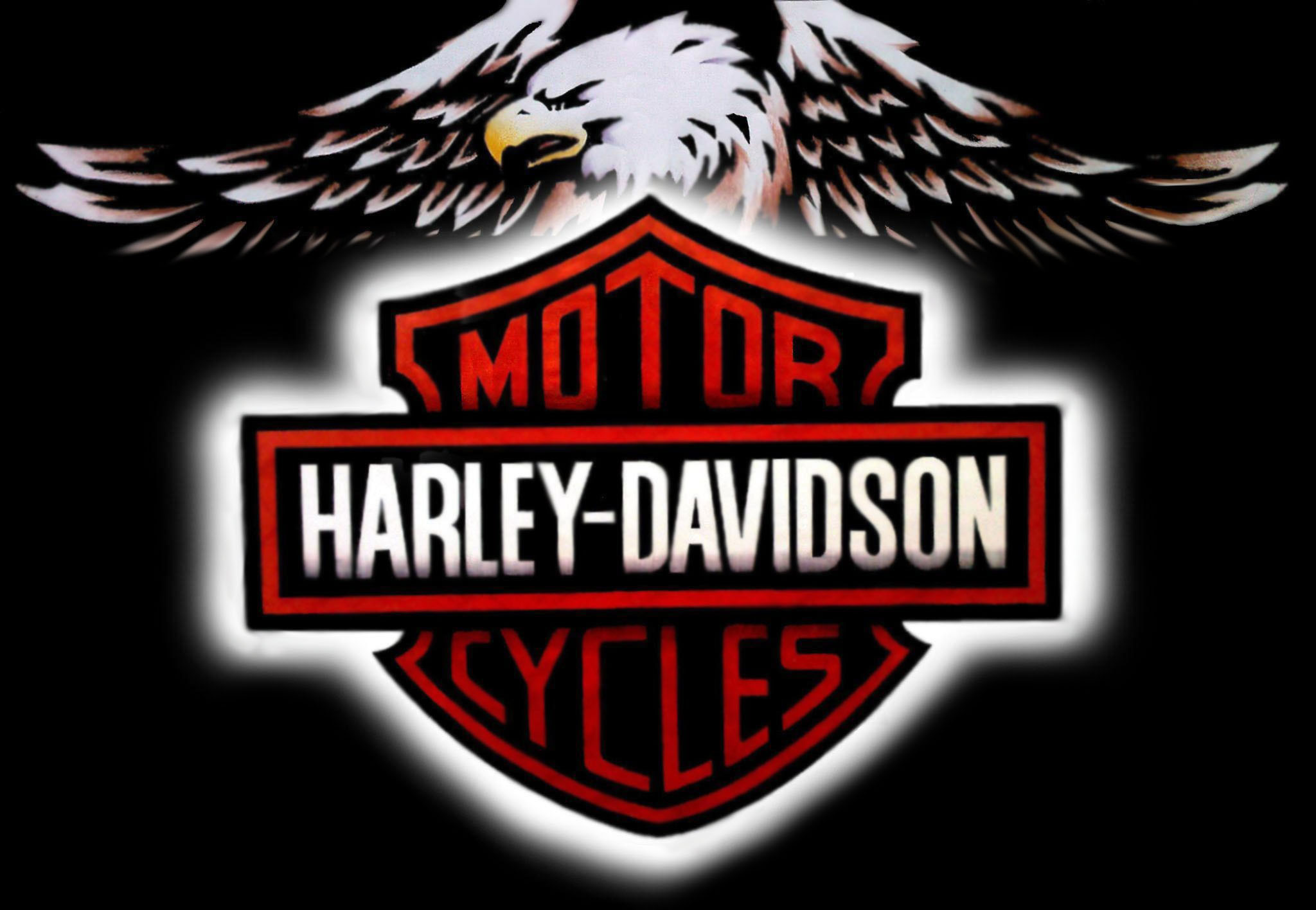 2048x1416 Wallpapers For Harley Davidson Logo With Flames Wallpaper