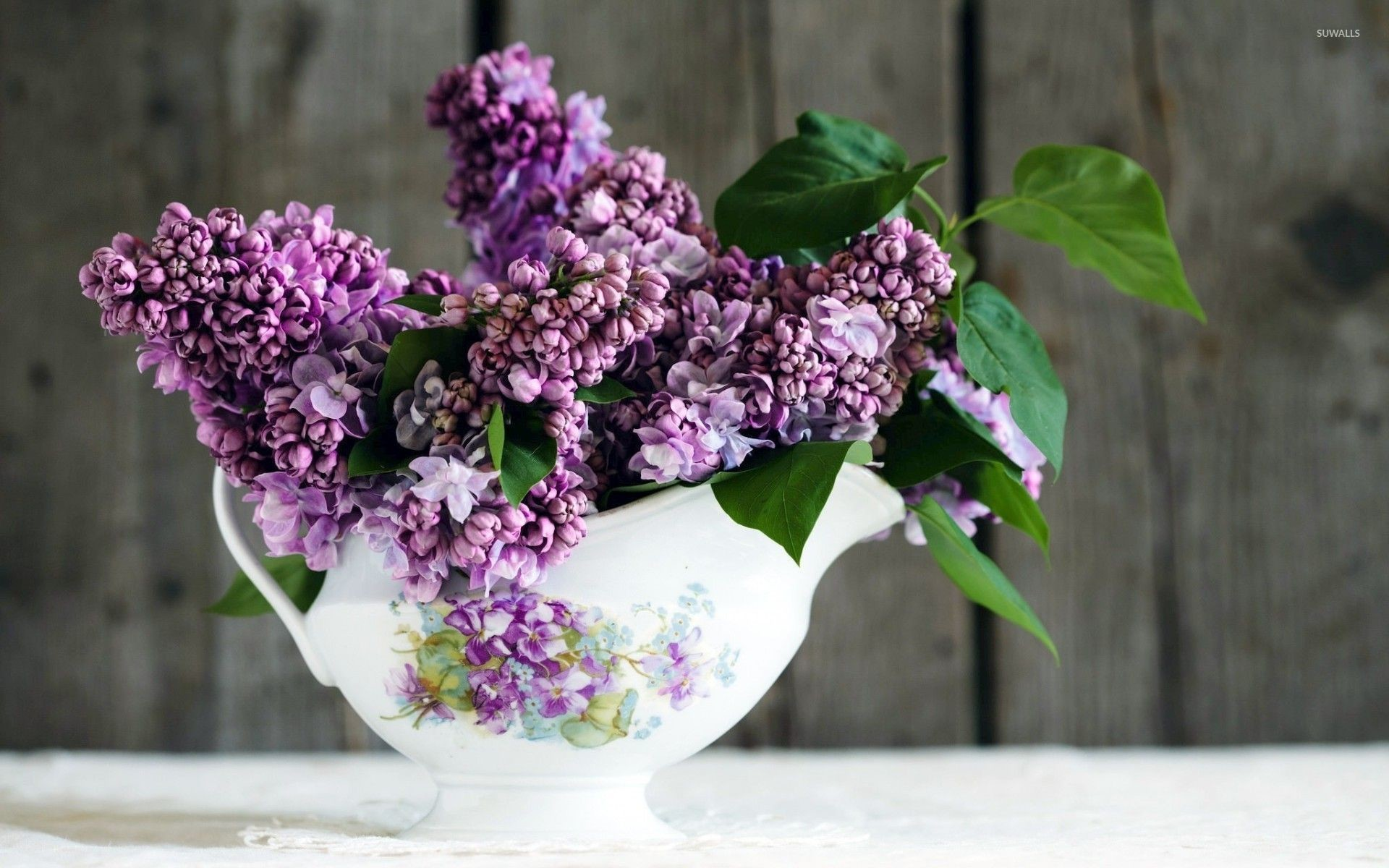 природа цветы ваза сирень  № 3063947  скачать