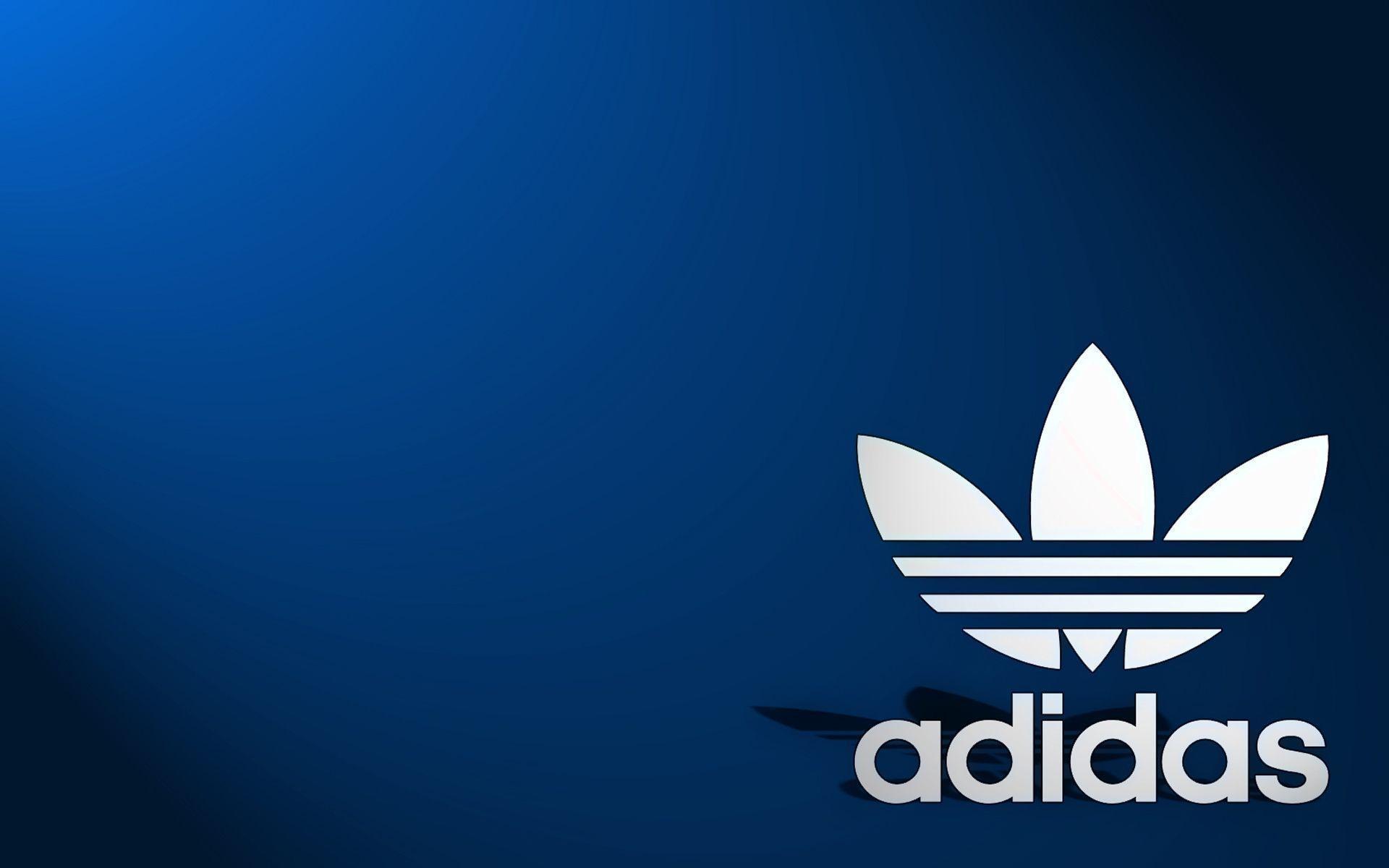 Adidas wallpaper blue