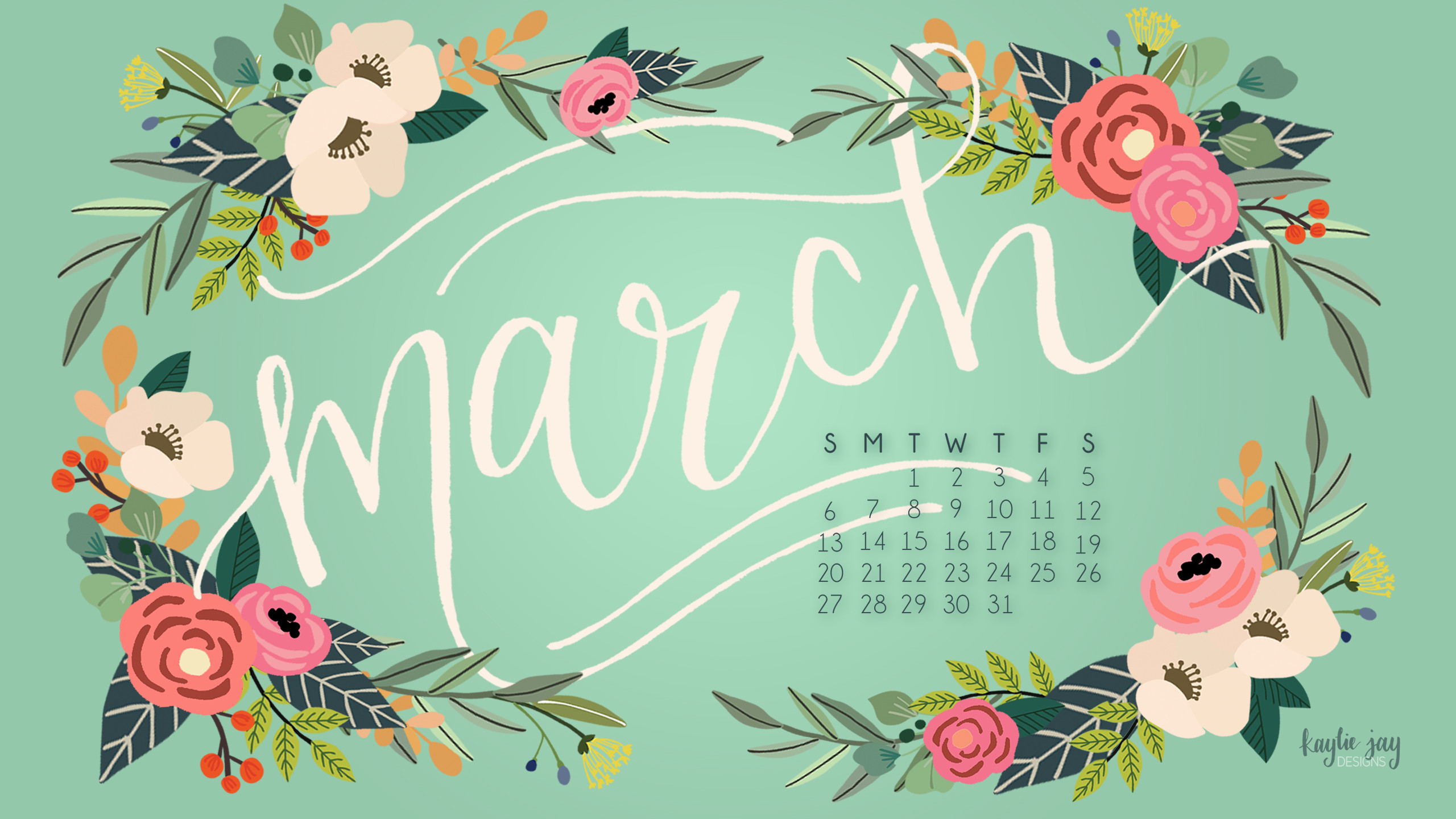 Calendar Desktop Wallpaper March : March desktop background ·①