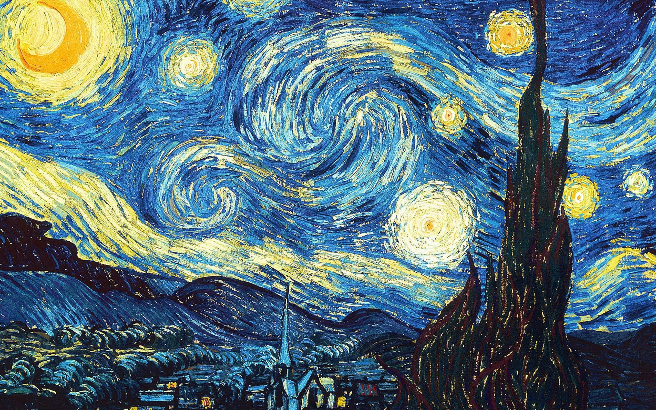 2560x1600 van gogh starry night desktop wallpaper van gogh gallery