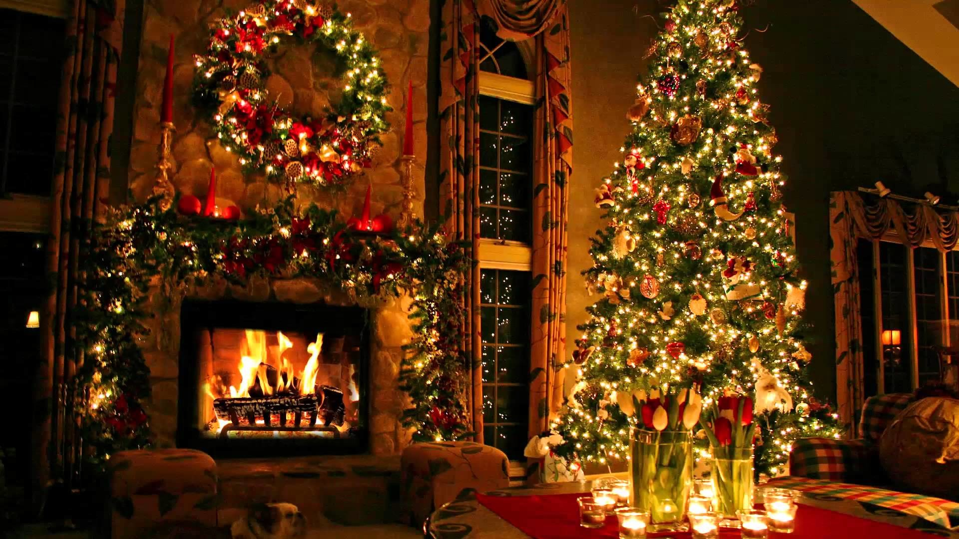 Christmas Fireplace Background ① Wallpapertag