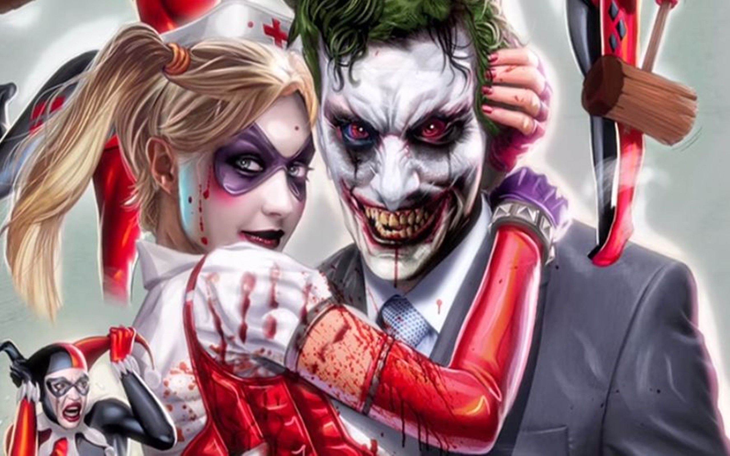 Harley quinn and joker wallpaper download free for Joker immagini hd