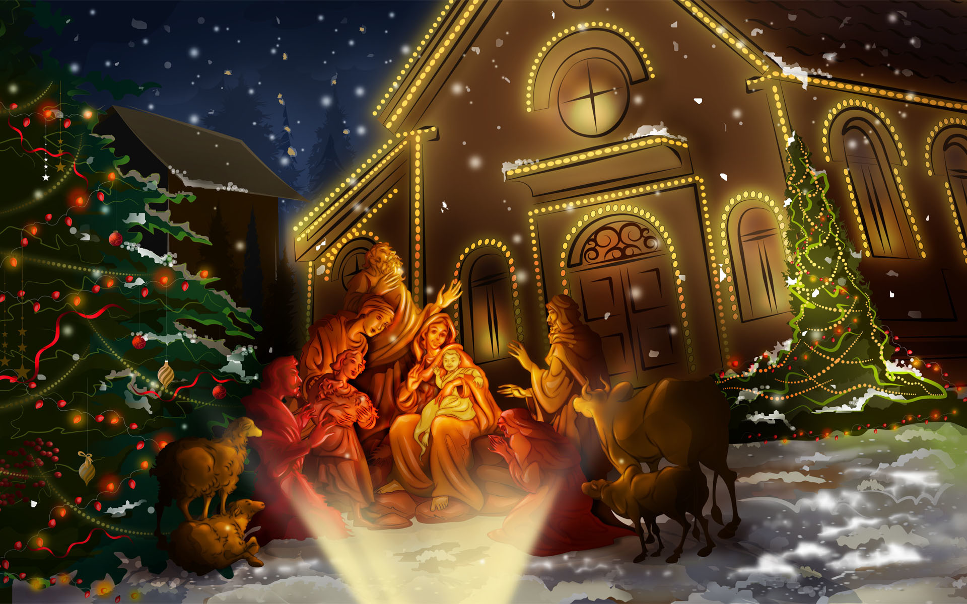 Free Download Beautiful Merry Christmas Jesus