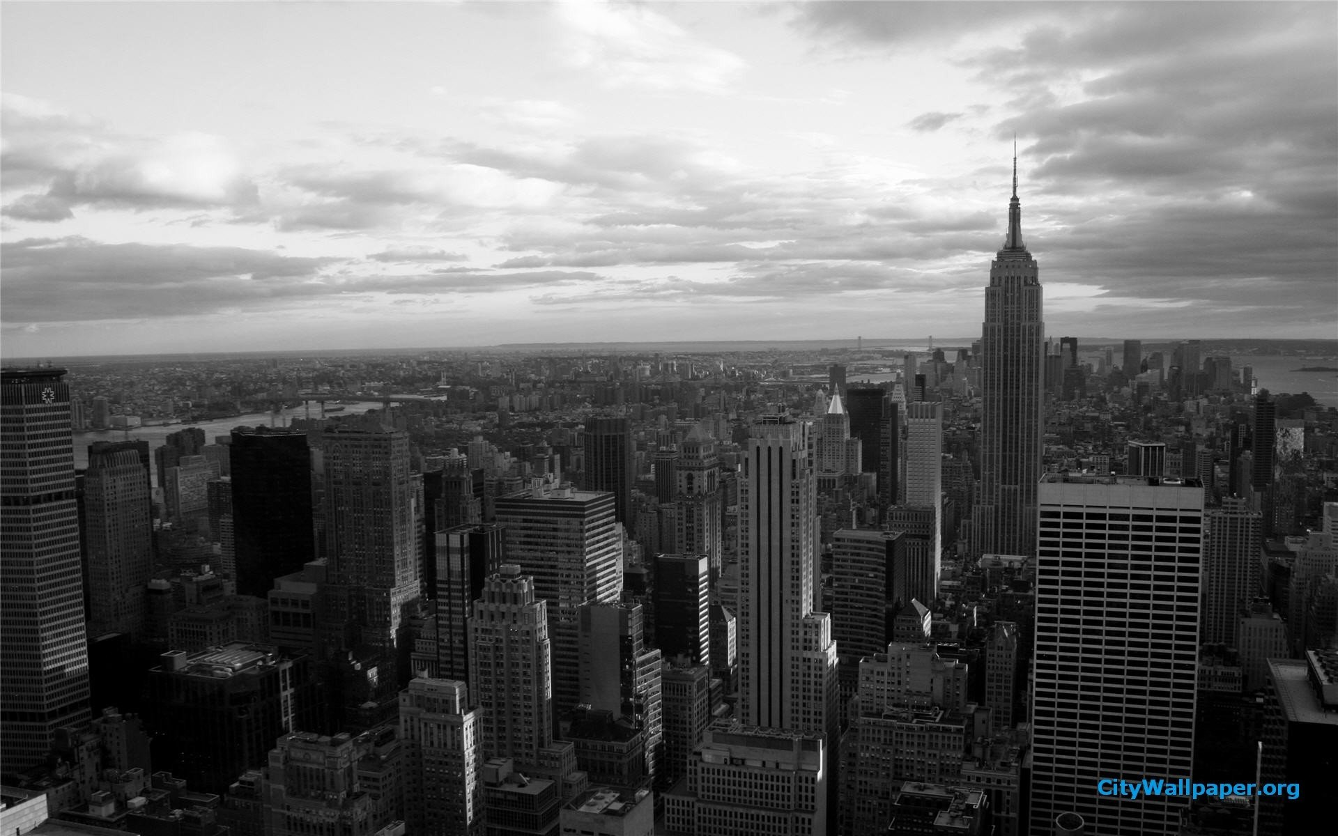 New York Wallpaper 1920x1080 Black And White