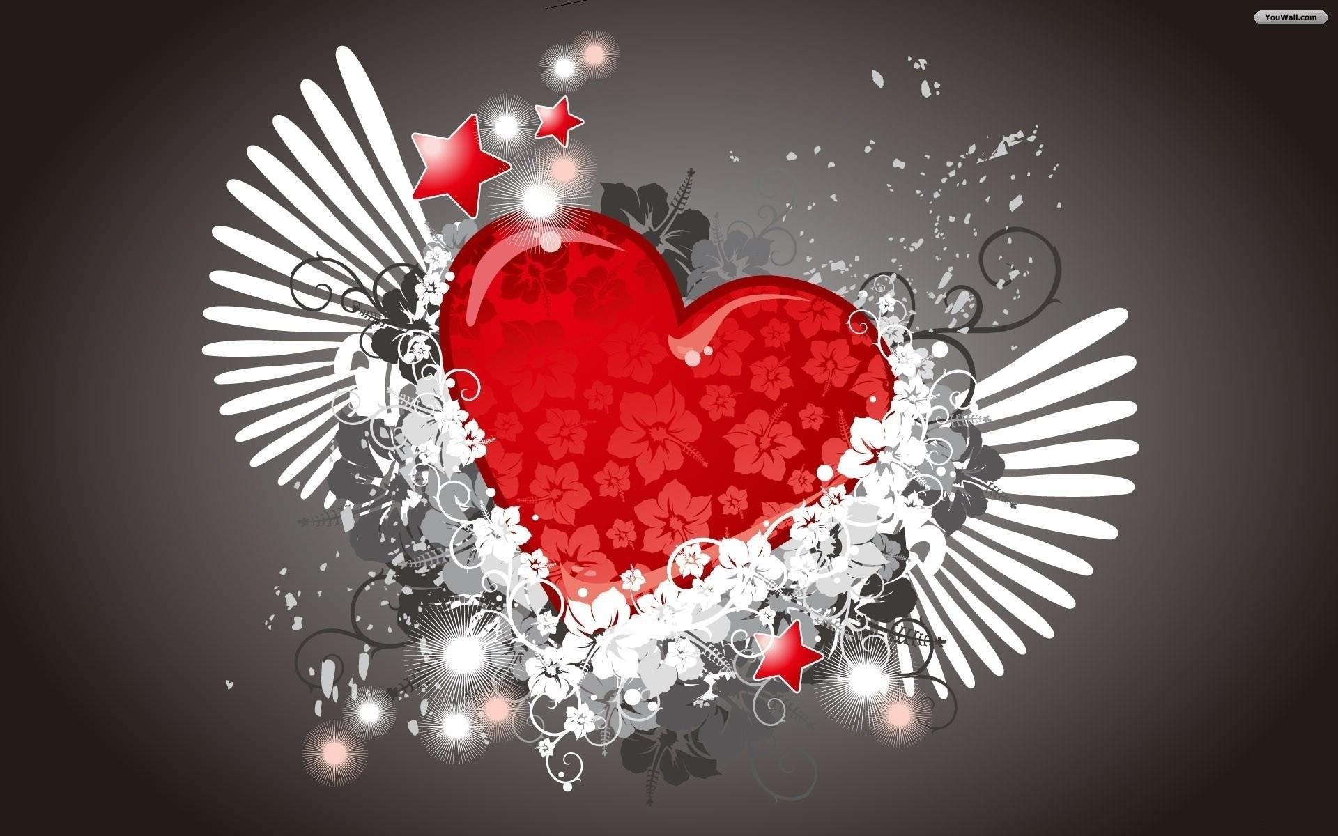 Love Hearts Wallpaper 1
