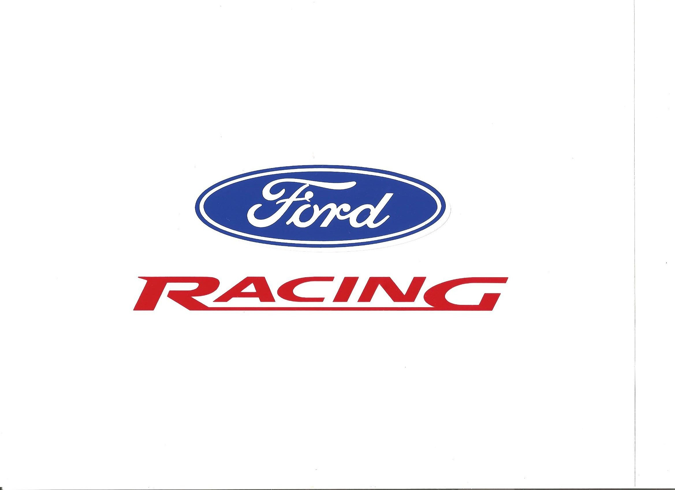 Ford Racing Car Decals