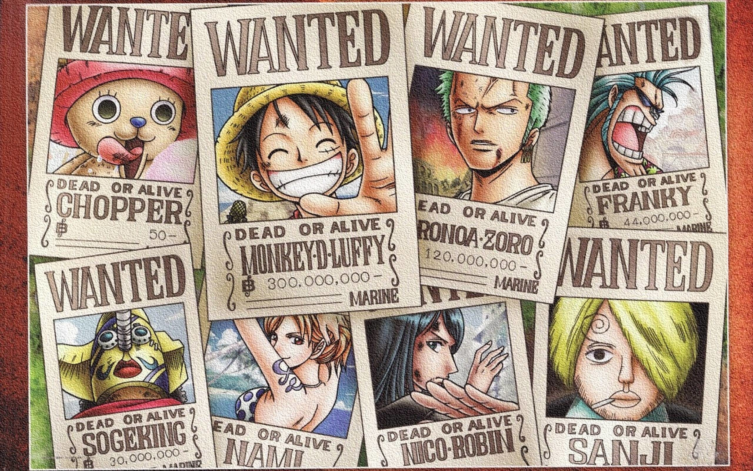 One Piece Wallpaper Wanted Wallpapertag