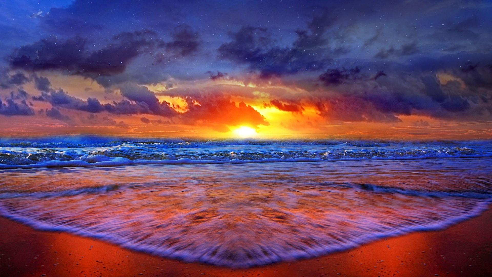 Cool Beach Wallpaper: Sunset Beach Backgrounds ·① WallpaperTag