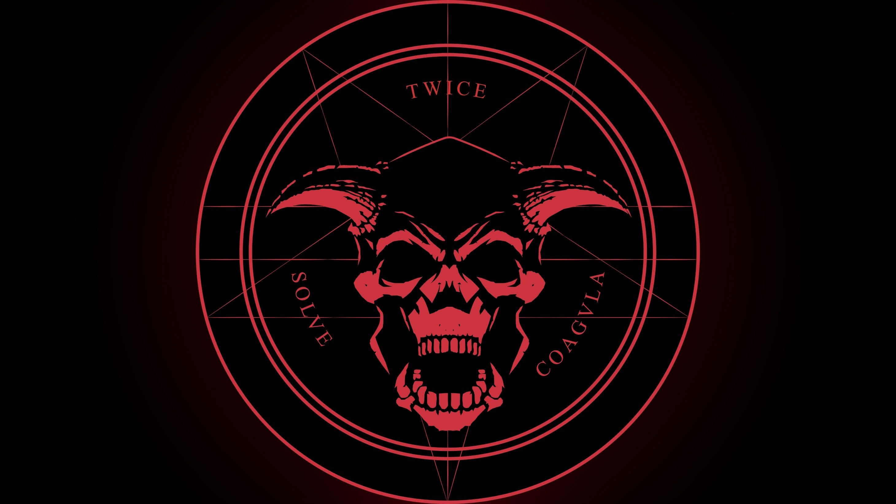Satanic pentagram wallpaper - Devil skull wallpaper ...