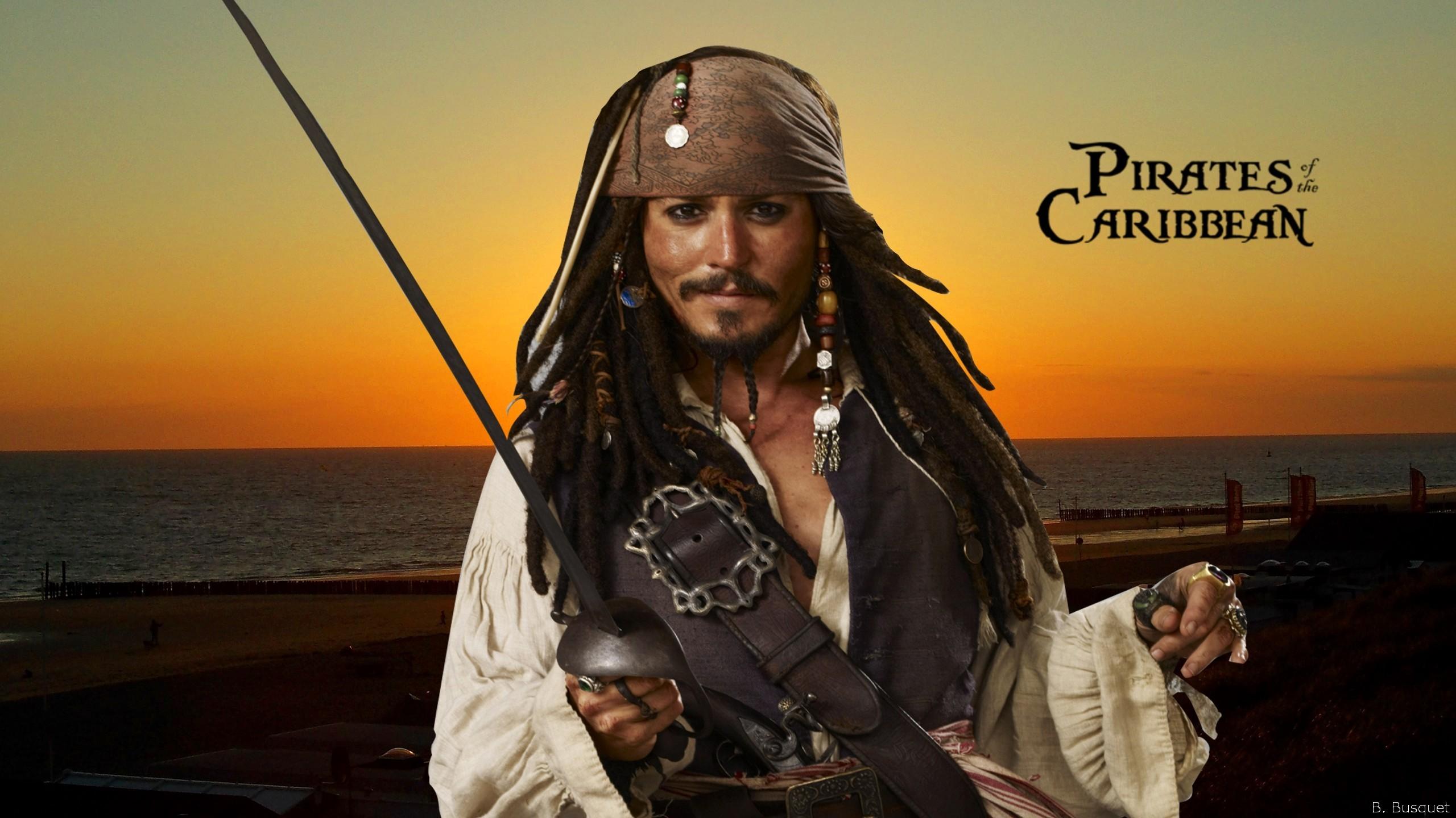 пираты карибского моря джек воробей море природа остров песок лодка вода  № 1386124  скачать