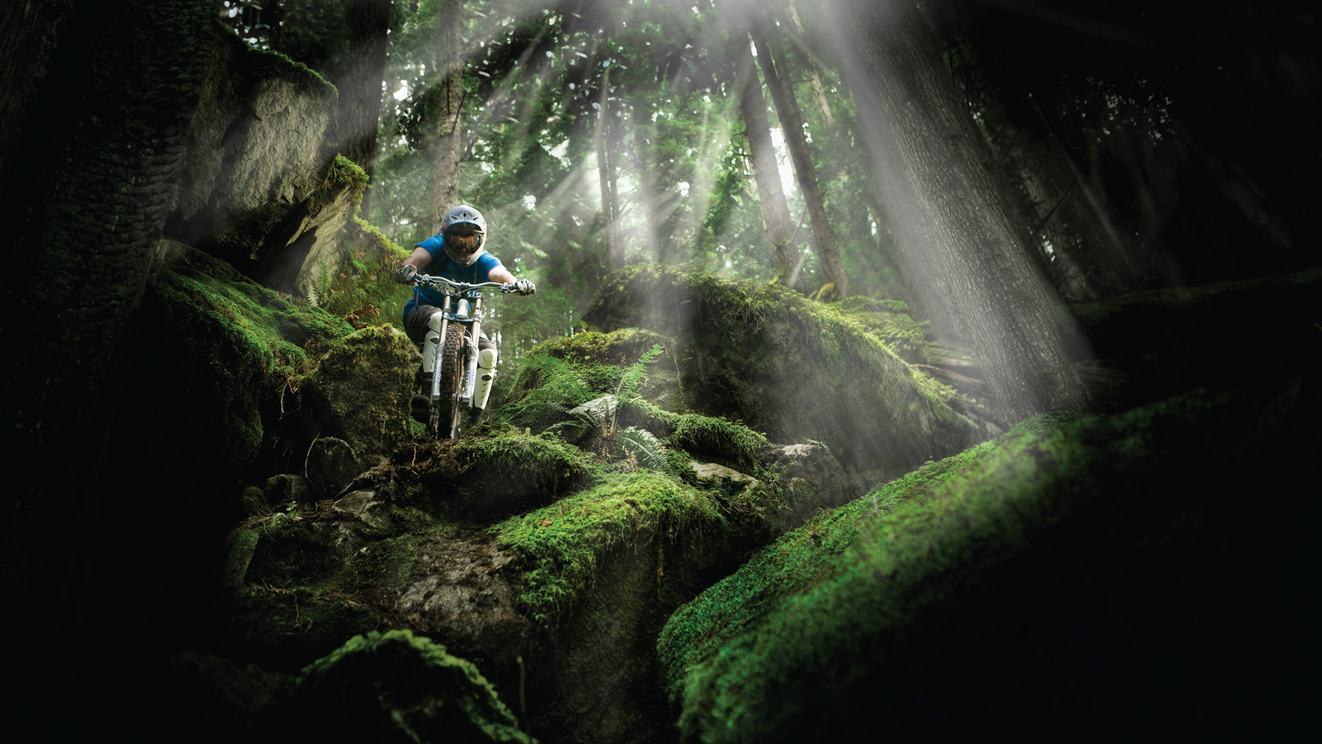 downhill mountain bike wallpaper ·①, Powerpoint templates