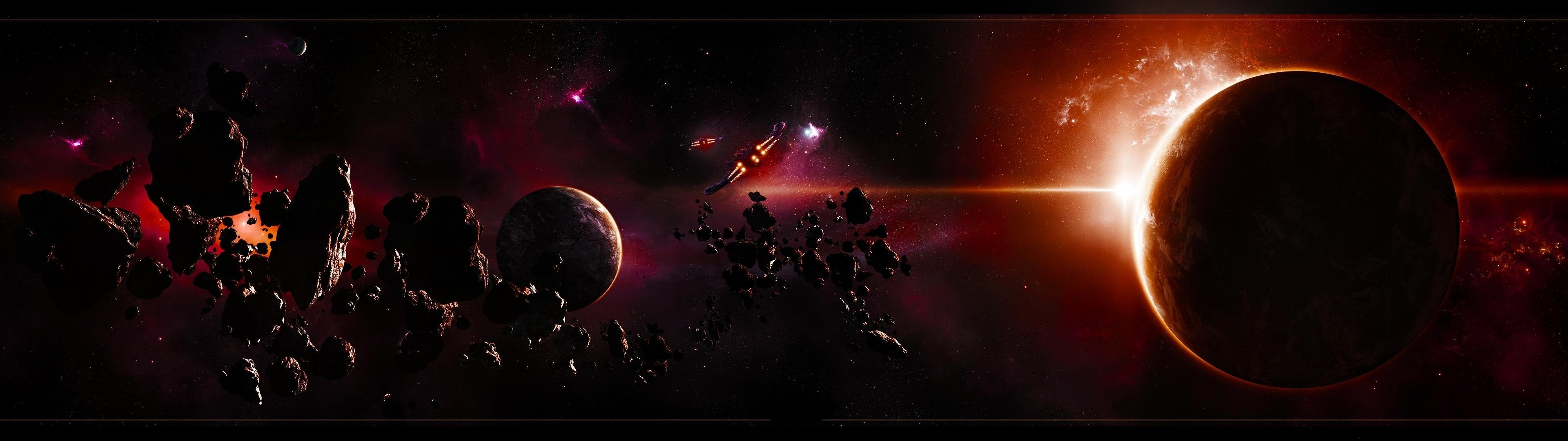 Dual Monitor Wallpaper Space Download Free Cool Full Hd