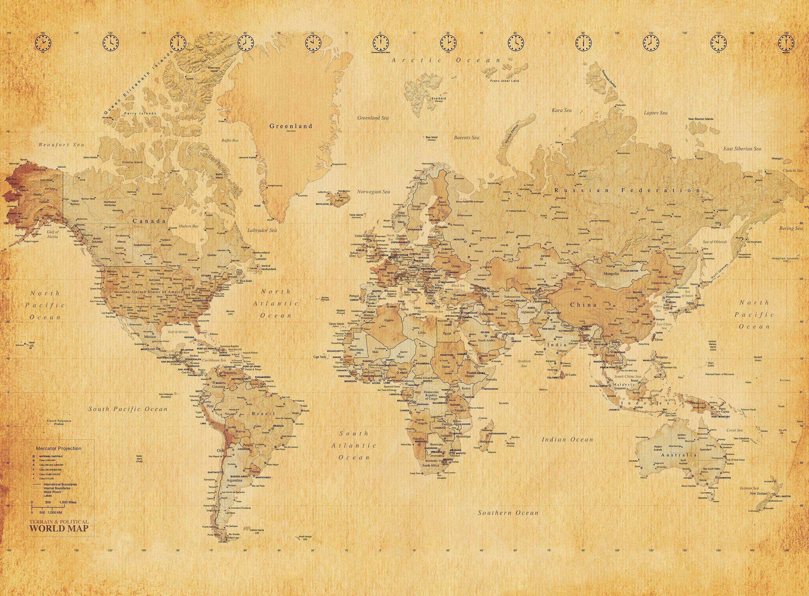 Vintage map wallpaper 2673x1969 world map wallpaper shop for cheap products and save online gumiabroncs Gallery