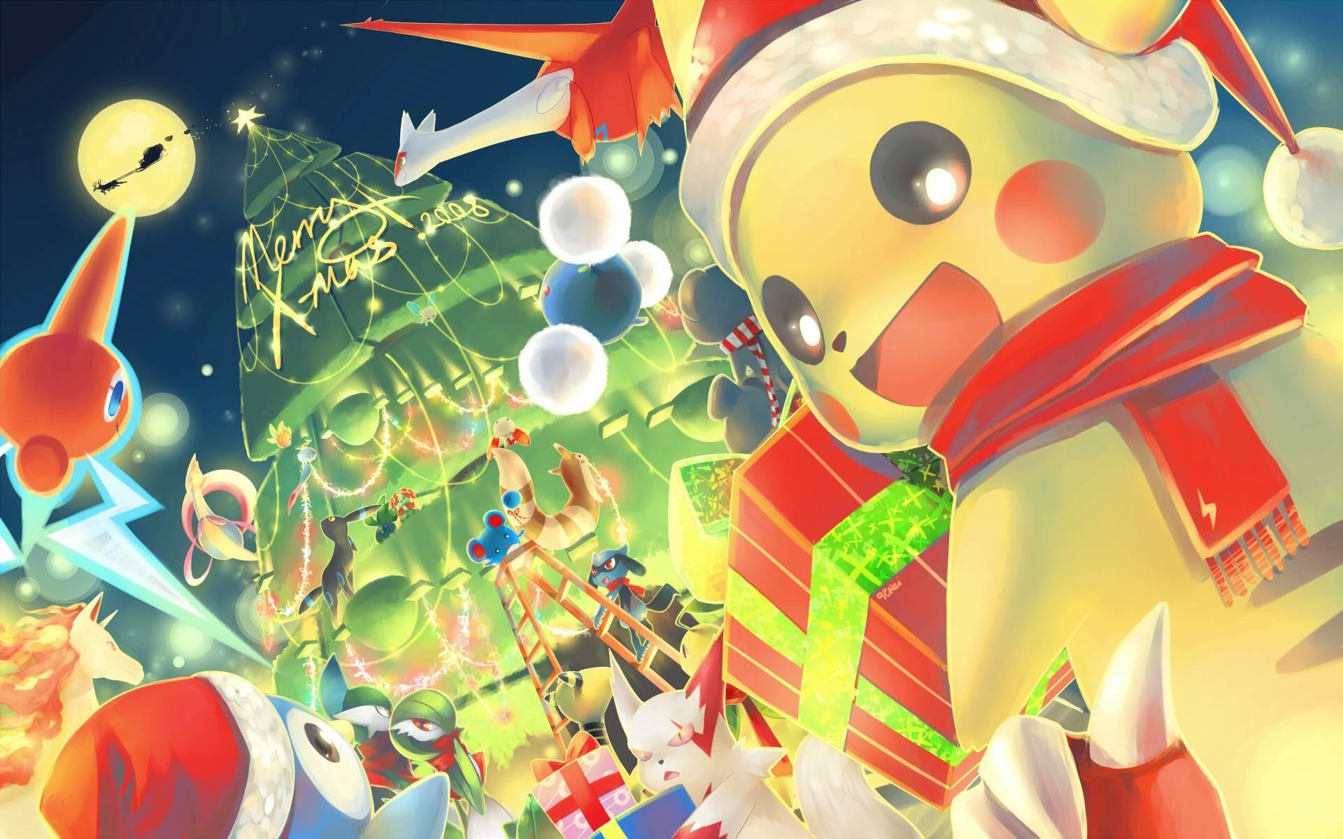 Pokemon Christmas Wallpaper Wallpapertag