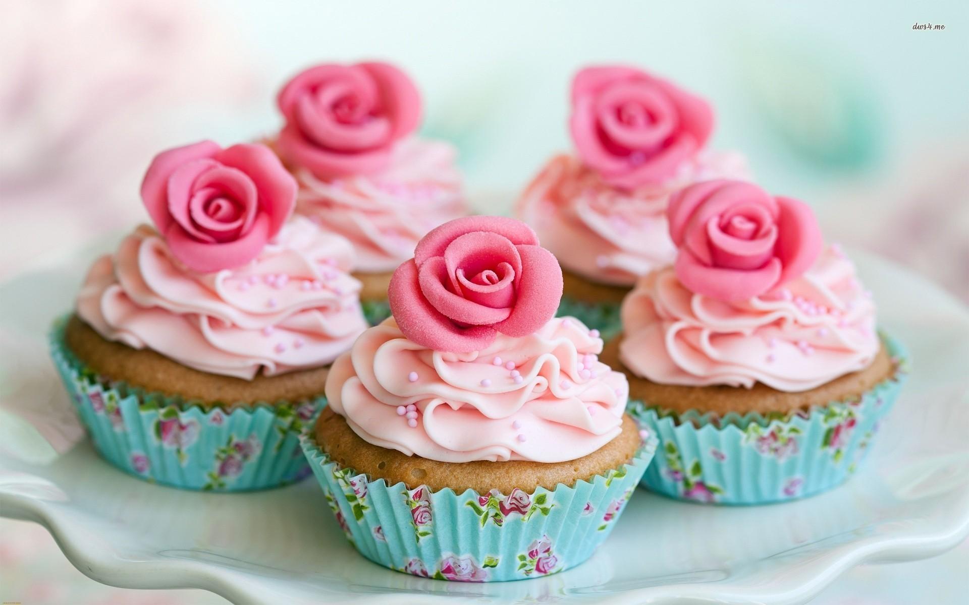 Pink Cupcake Wallpaper