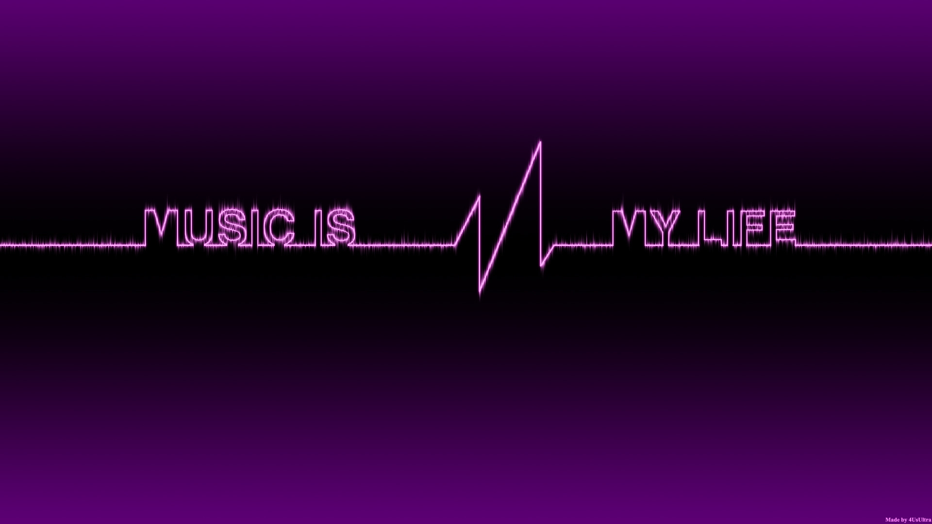 Music Is My Life Wallpaper 1920x1080