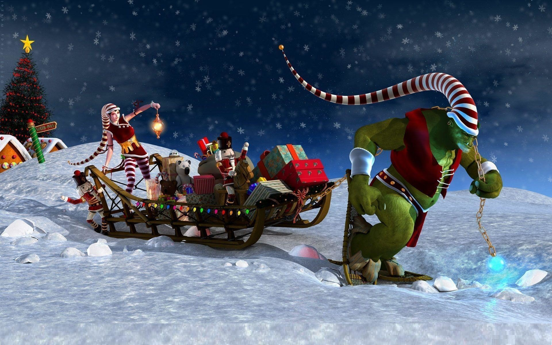 beautiful christmas wallpapers ·①