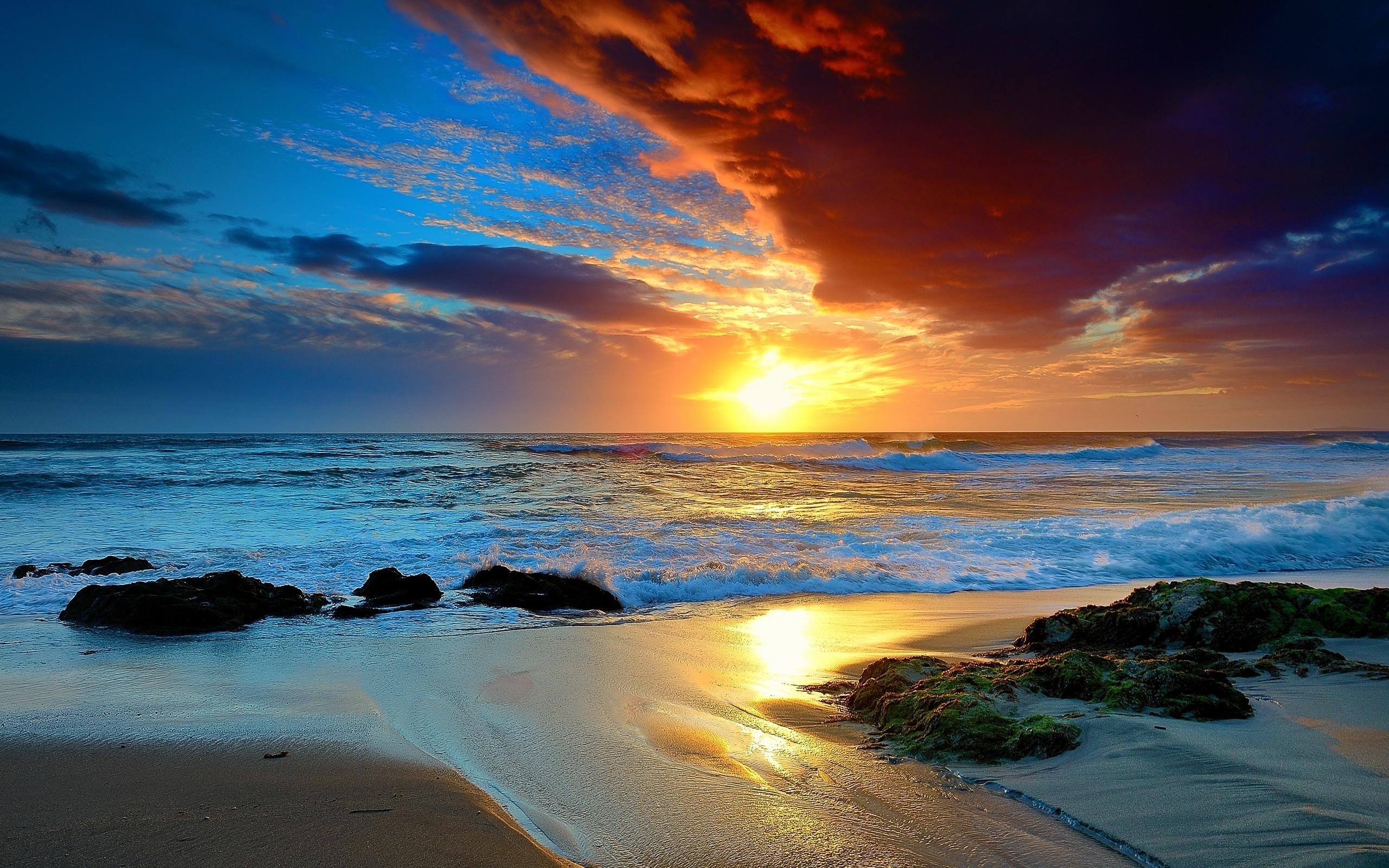 1920x1080 Sunset Beach Wallpaper Desktop Download 12406
