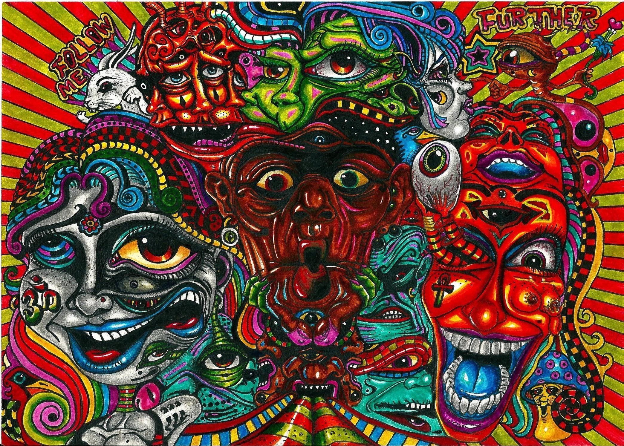 2088x1493 Collection Neon Acid Trip Wallpaper Download 1920x1200 Alien Wallpapers