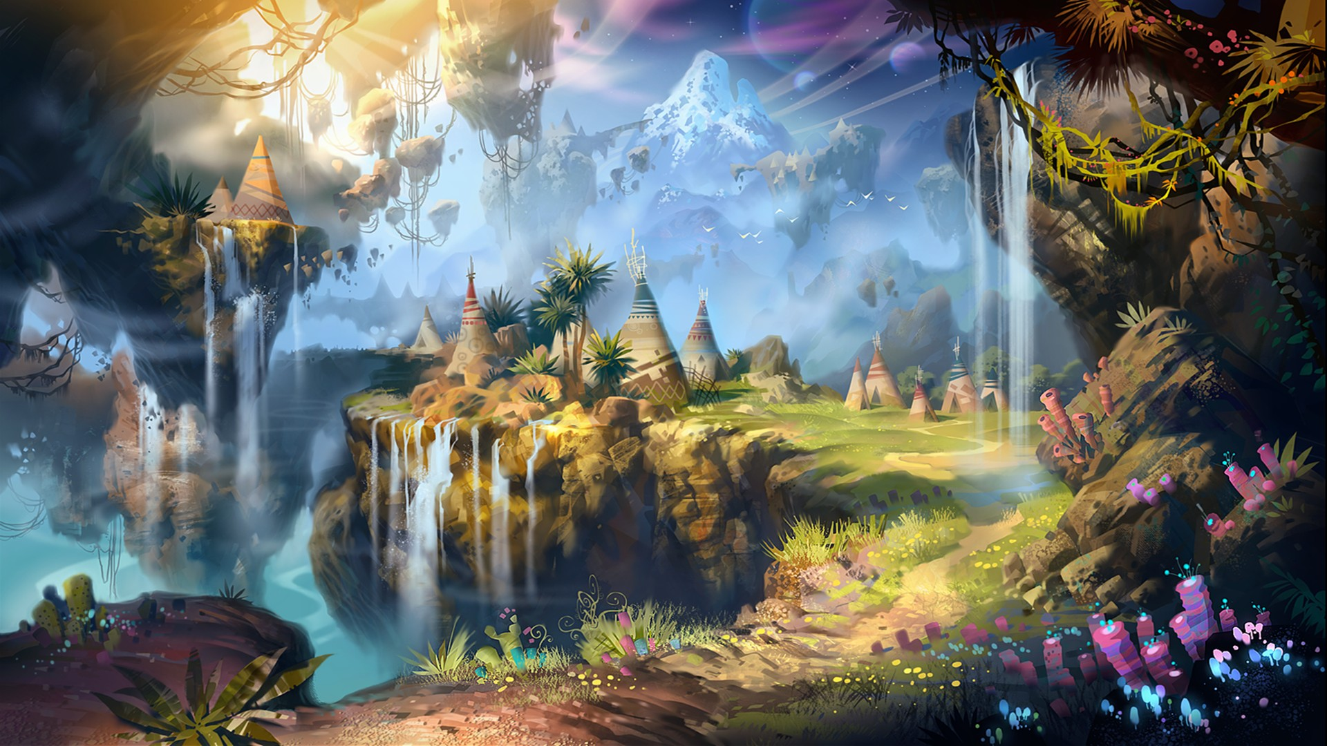 Image Detail For Fantasy Ipad Wallpaper: Fantasy Landscape Wallpaper 1920x1080 ·① Download Free